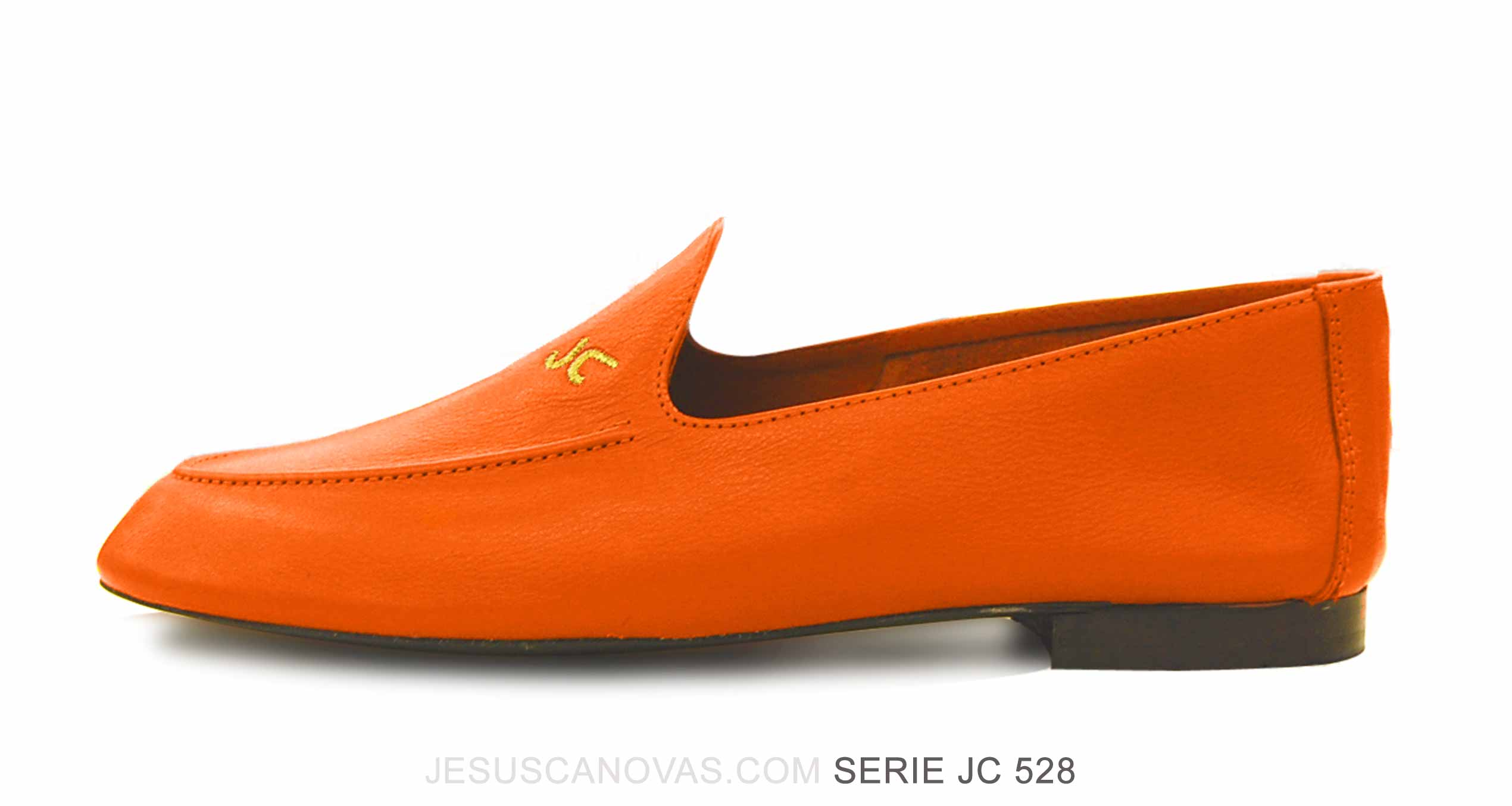 Foto 1 de Zapatos Julio Iglesias Mocasin 528 JC Naranja Napa