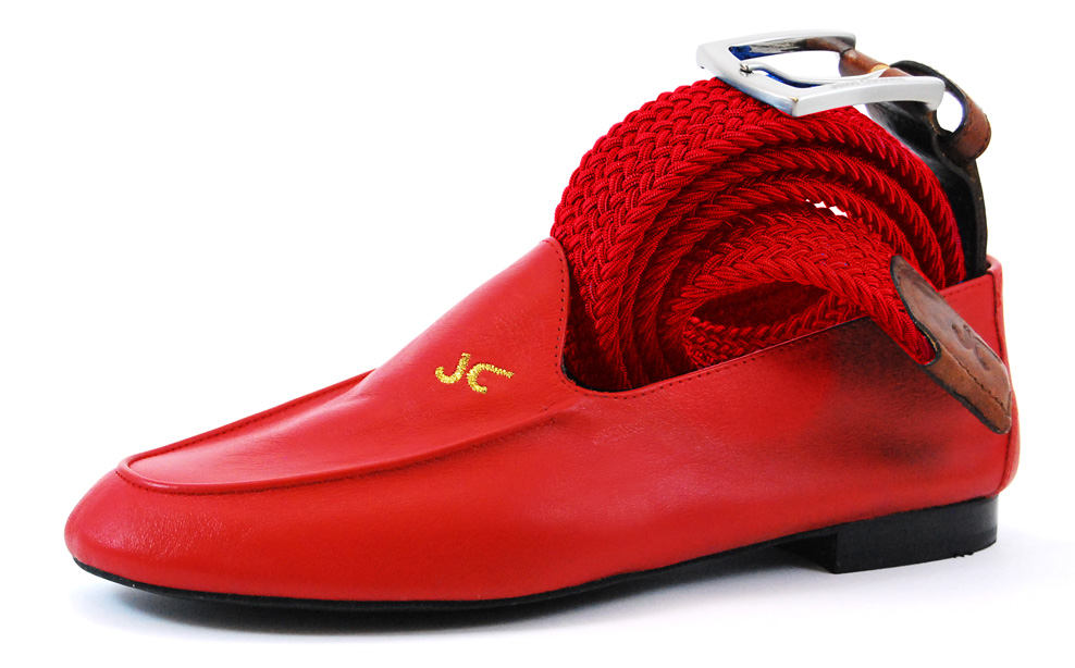 Foto 2 de Cinturon Trenzado Elastico Rojo