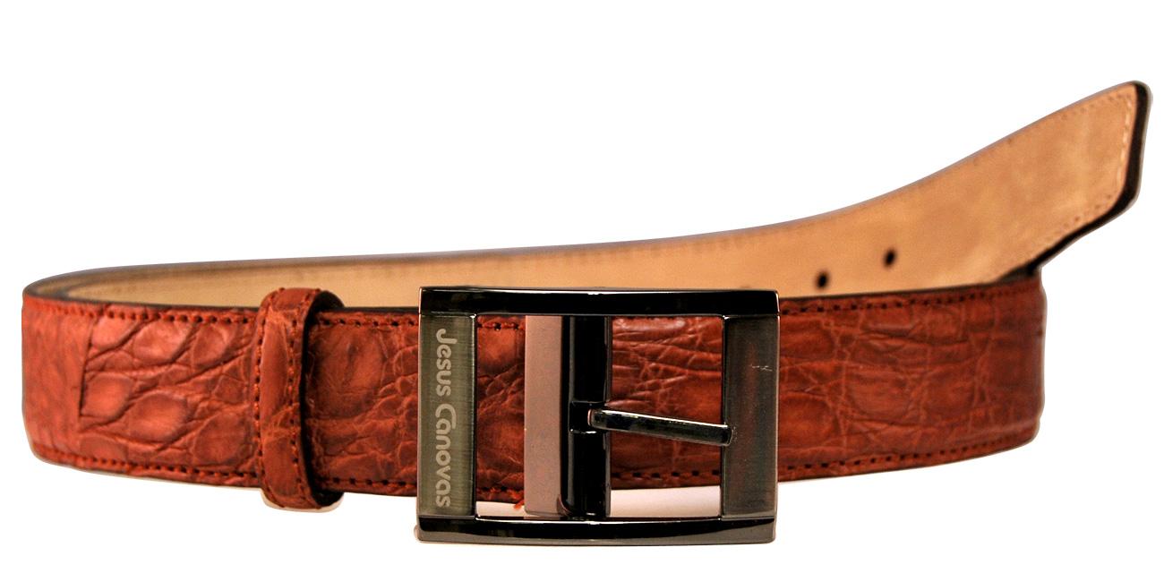 Foto 1 de Cinturón Piel Cocodrilo Cuero