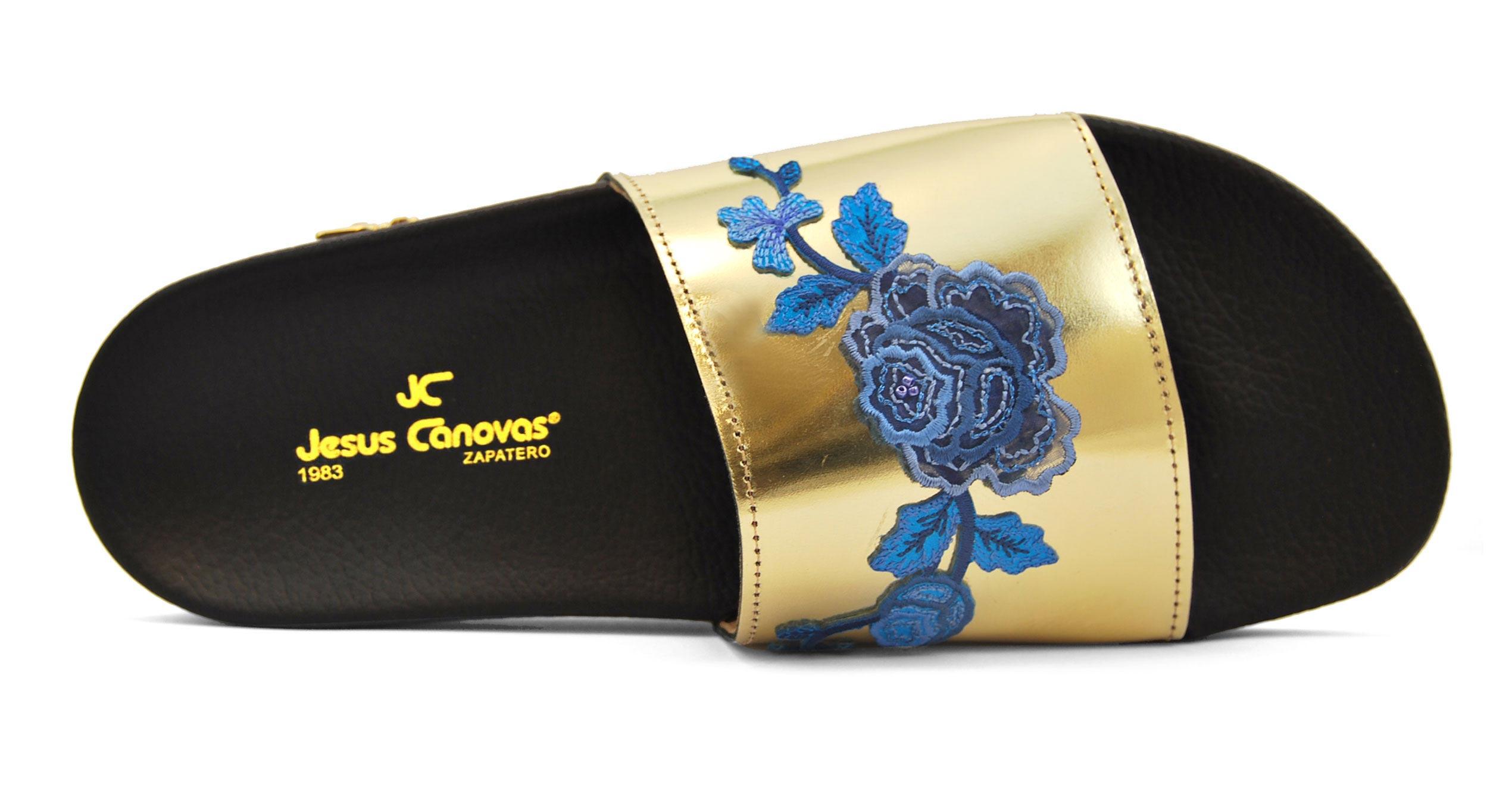 Foto 2 de Chancla Baño Flor Azul