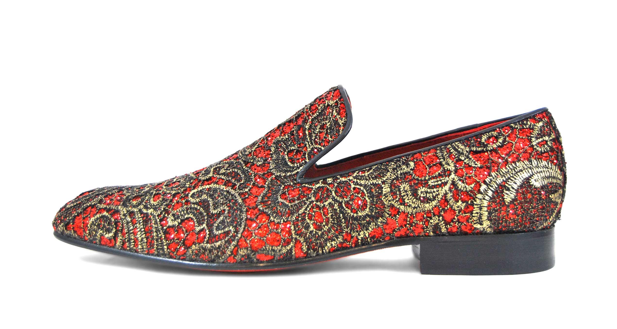 Foto 1 de Zapatos Elegante Rojo Dorado