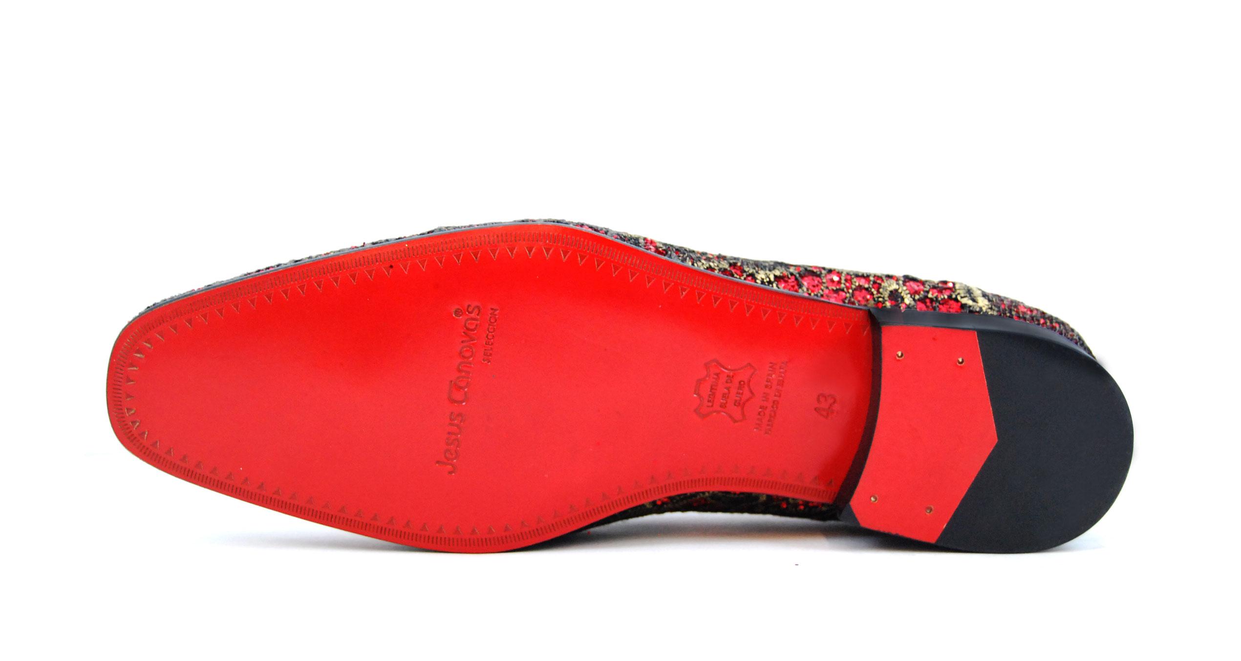 Foto 3 de Zapatos Elegante Rojo Dorado
