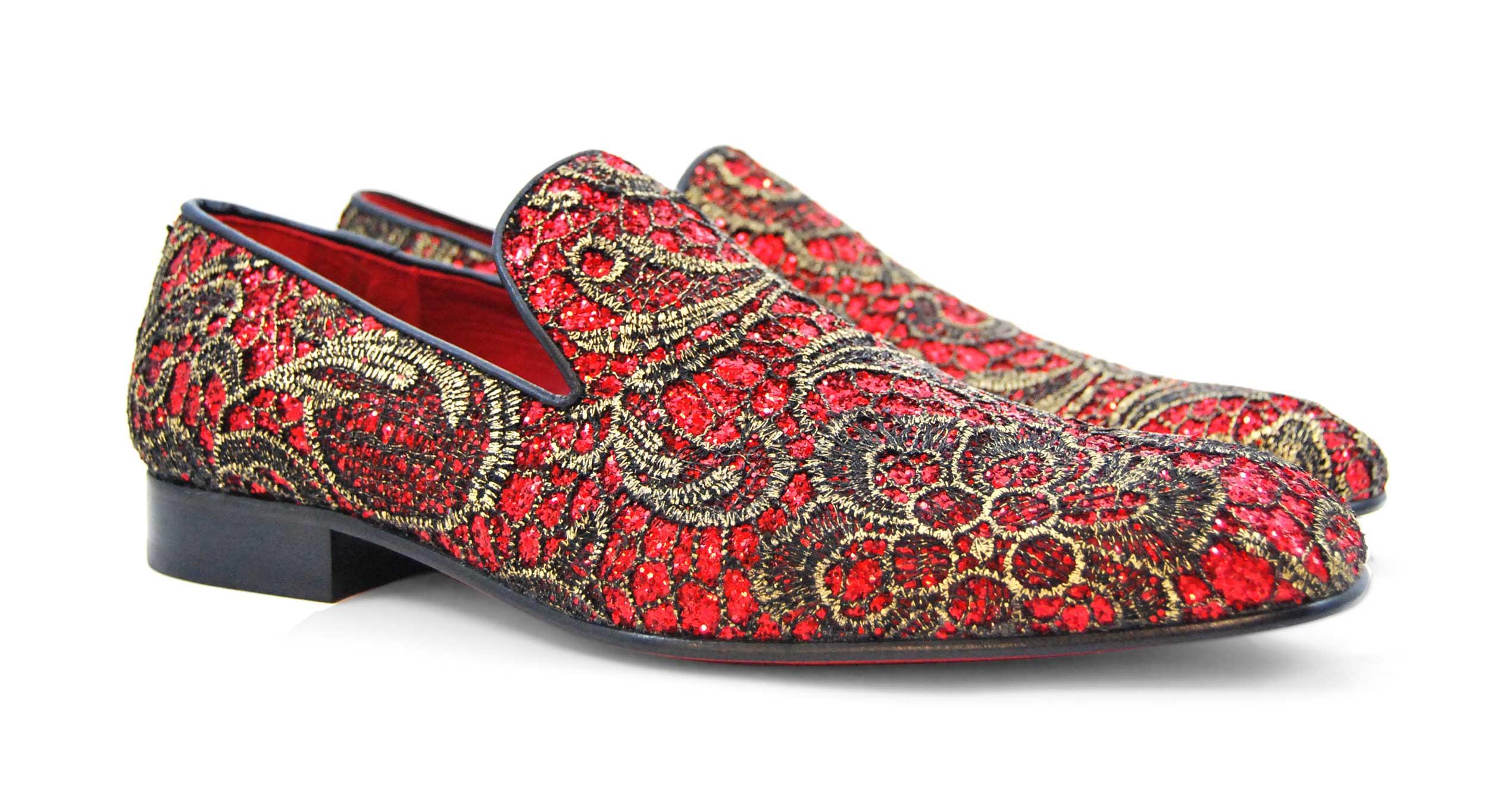 Foto 4 de Zapatos Elegante Rojo Dorado