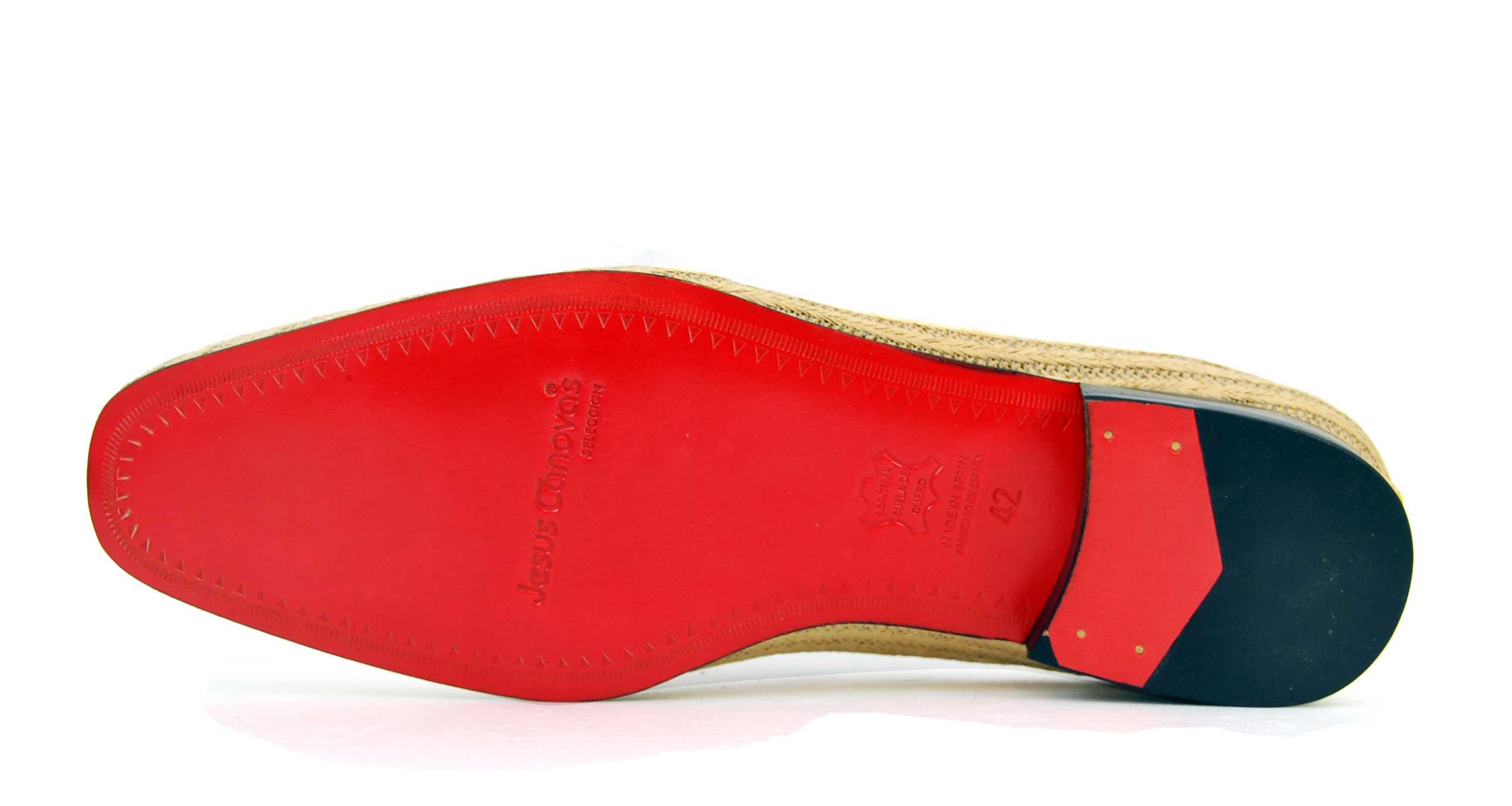 Foto 4 de Zapatos Palma Panameña Con Ribete Rojo