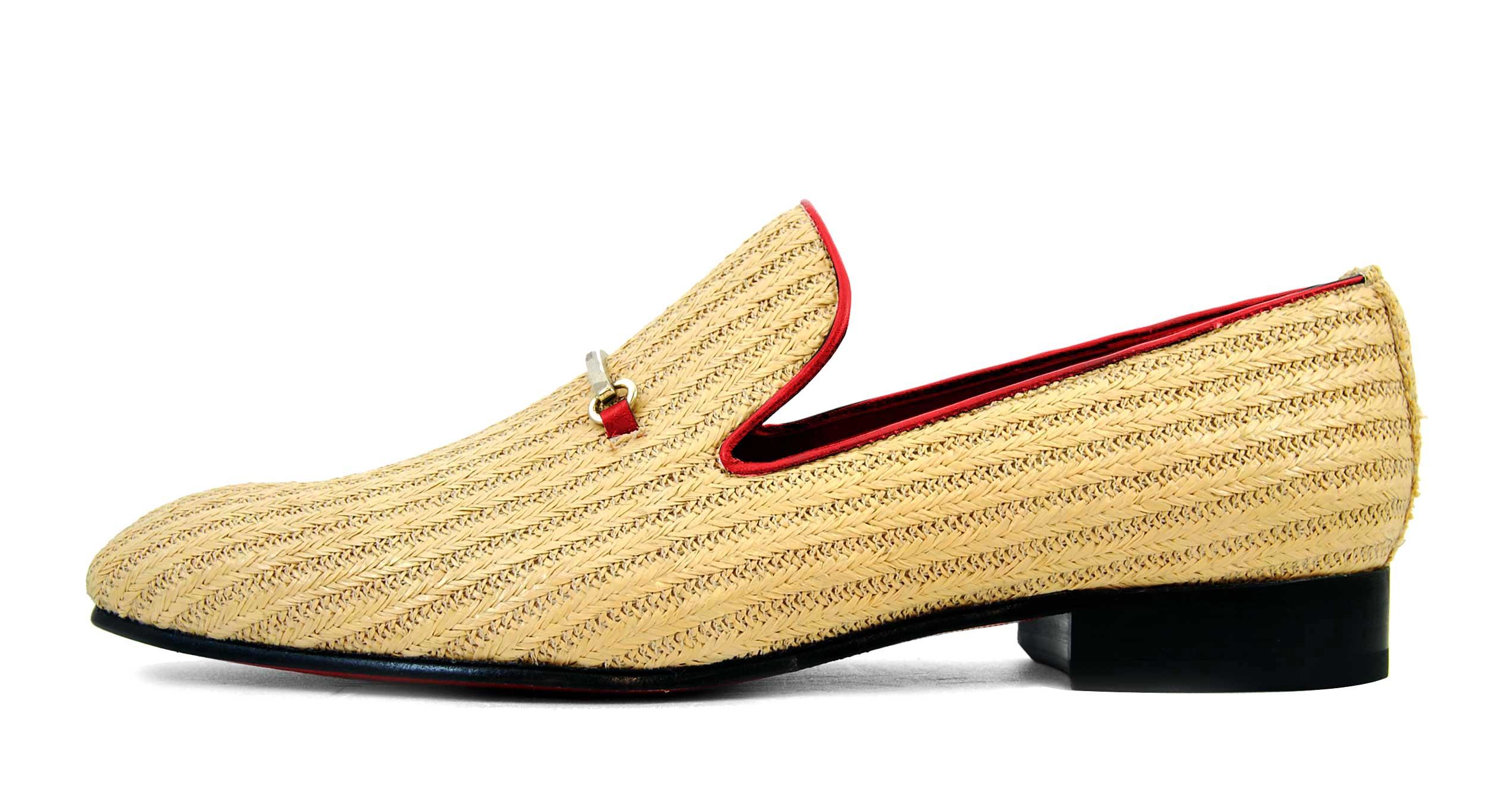 Foto 1 de Zapatos Palma Panameña Con Ribete Rojo
