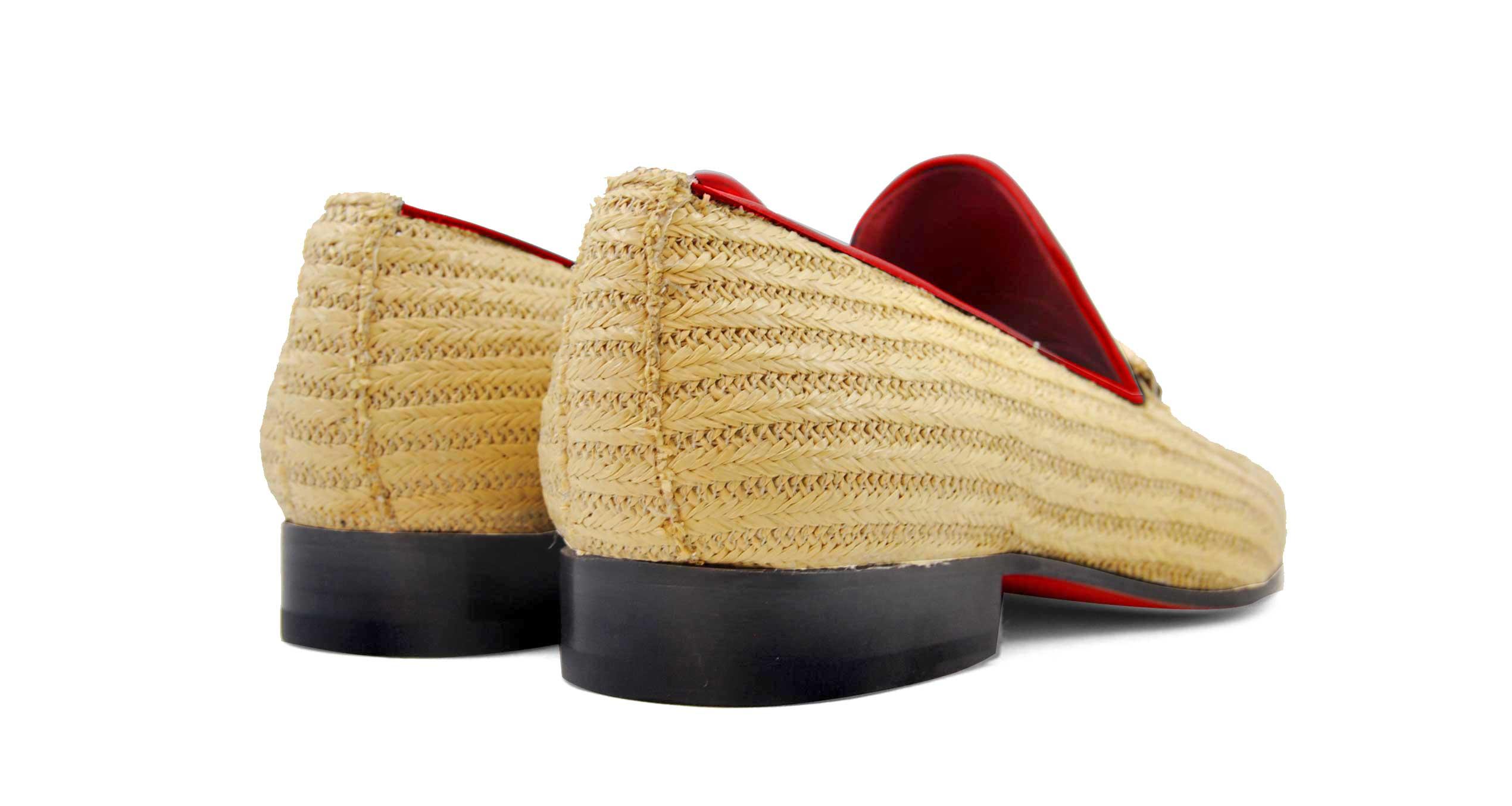 Foto 3 de Zapatos Palma Panameña Con Ribete Rojo