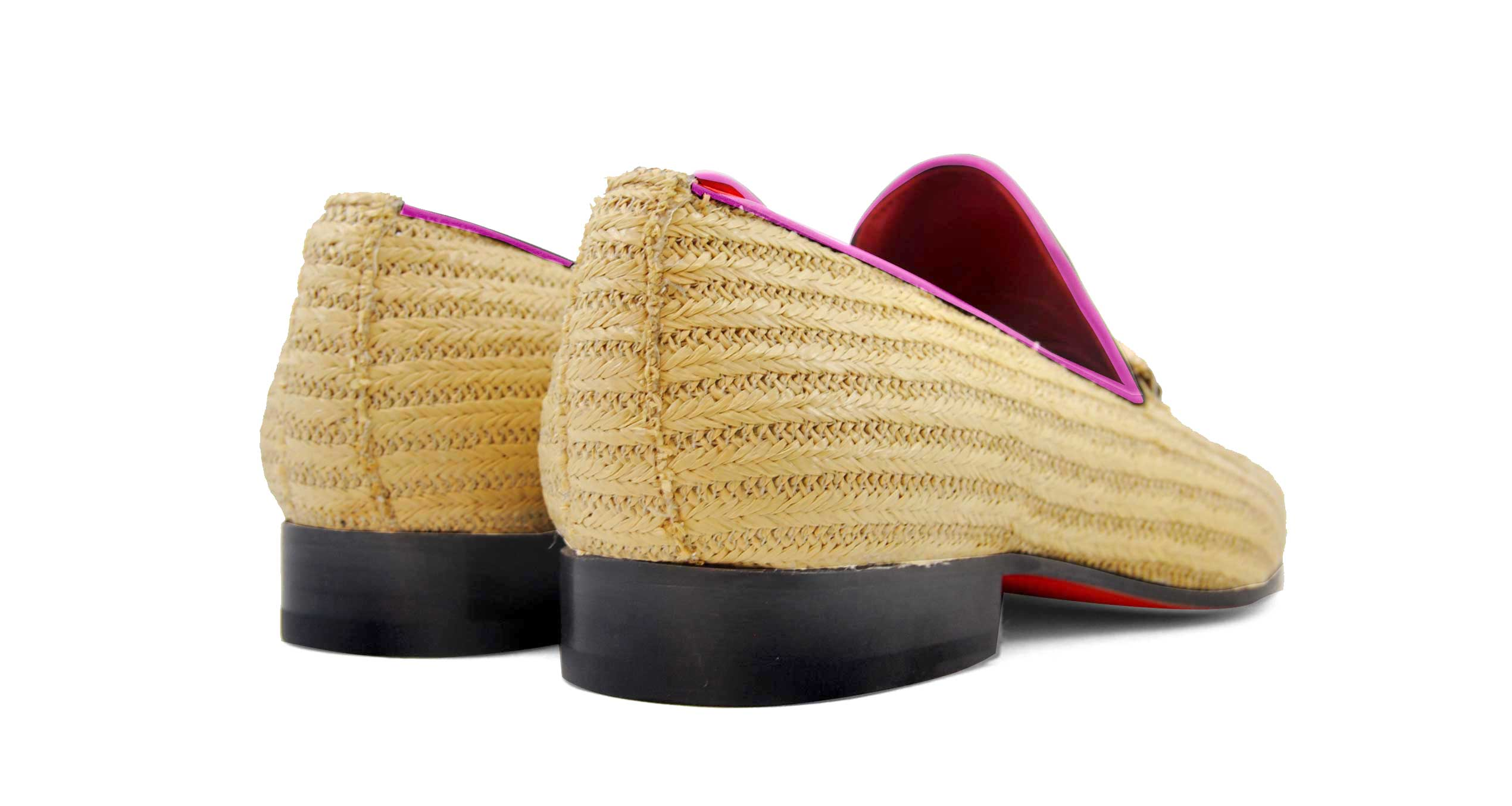 Foto 4 de Zapatos Palma Panameña Con Ribete Rosa