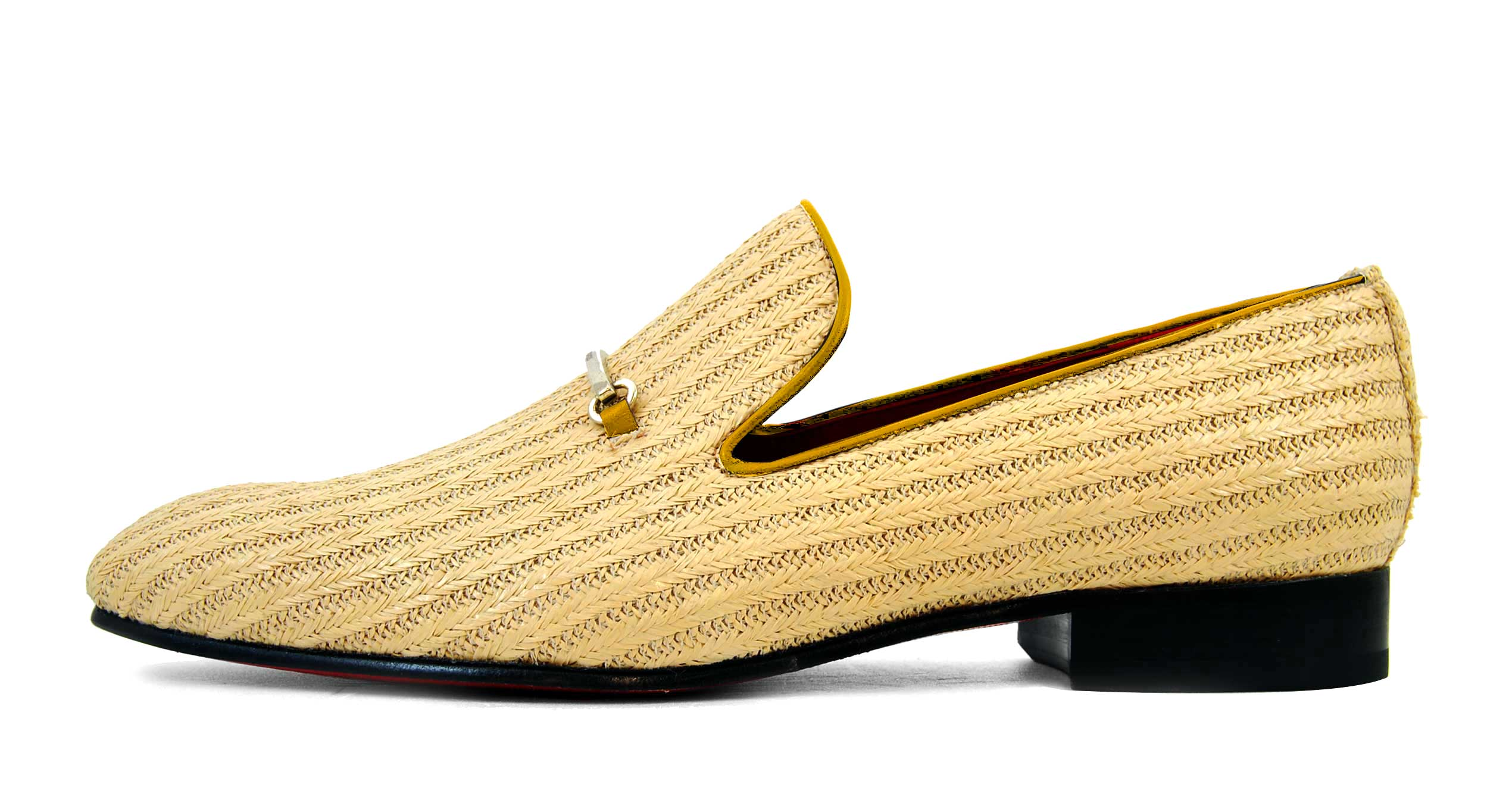 Foto 1 de Zapatos Palma Panameña Con Ribete Amarillo