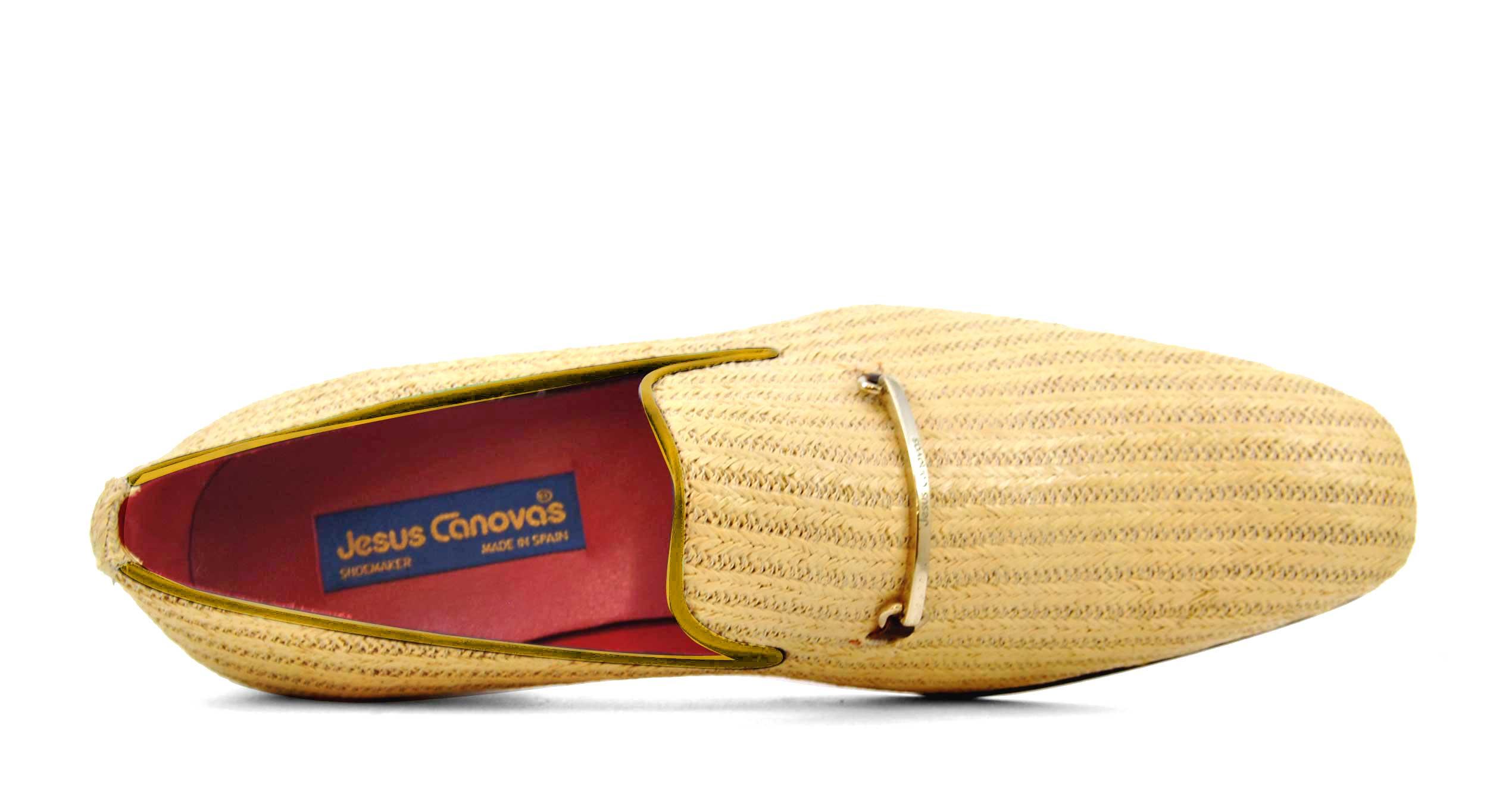 Foto 2 de Zapatos Palma Panameña Con Ribete Amarillo