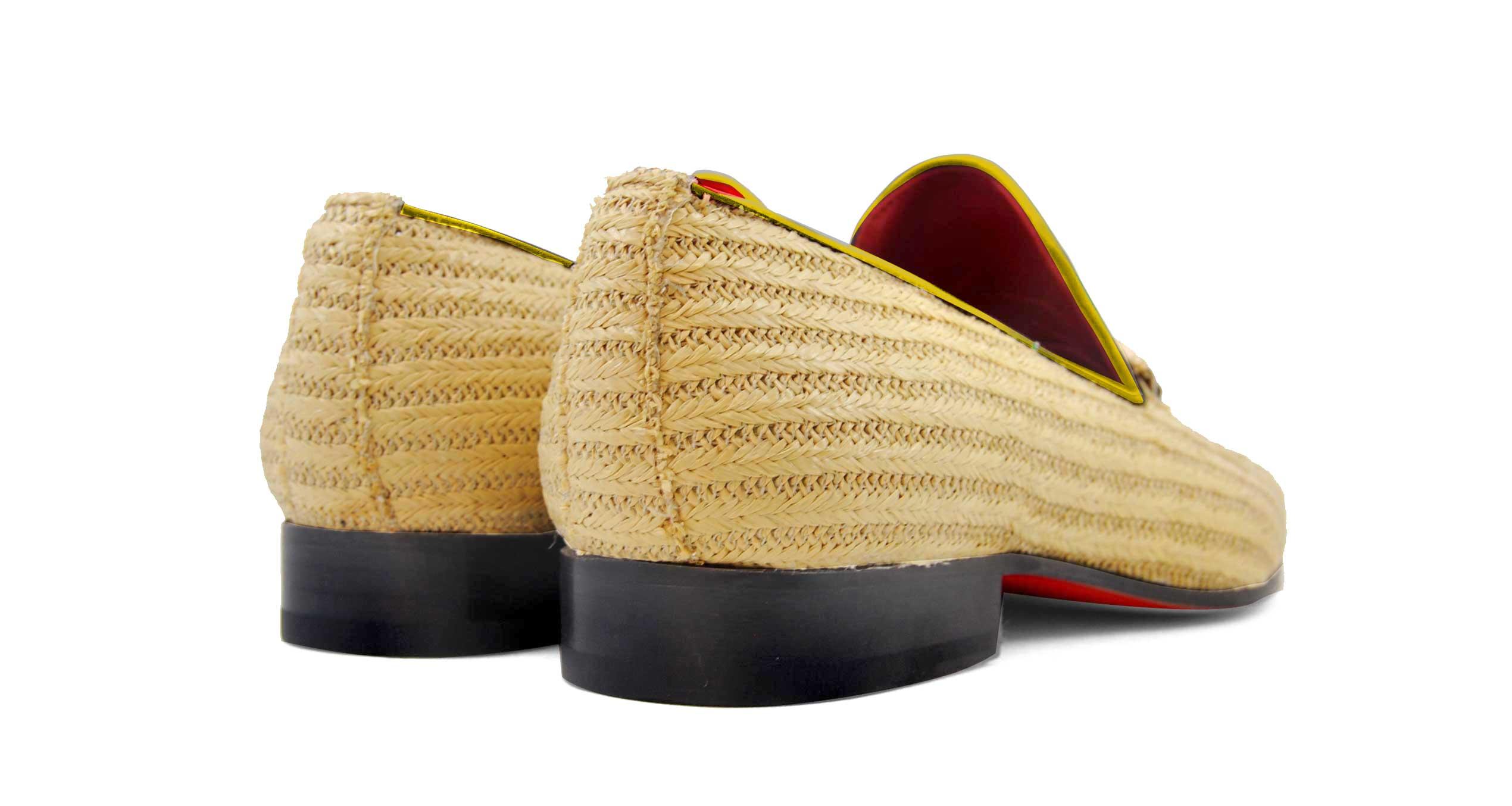 Foto 4 de Zapatos Palma Panameña Con Ribete Amarillo