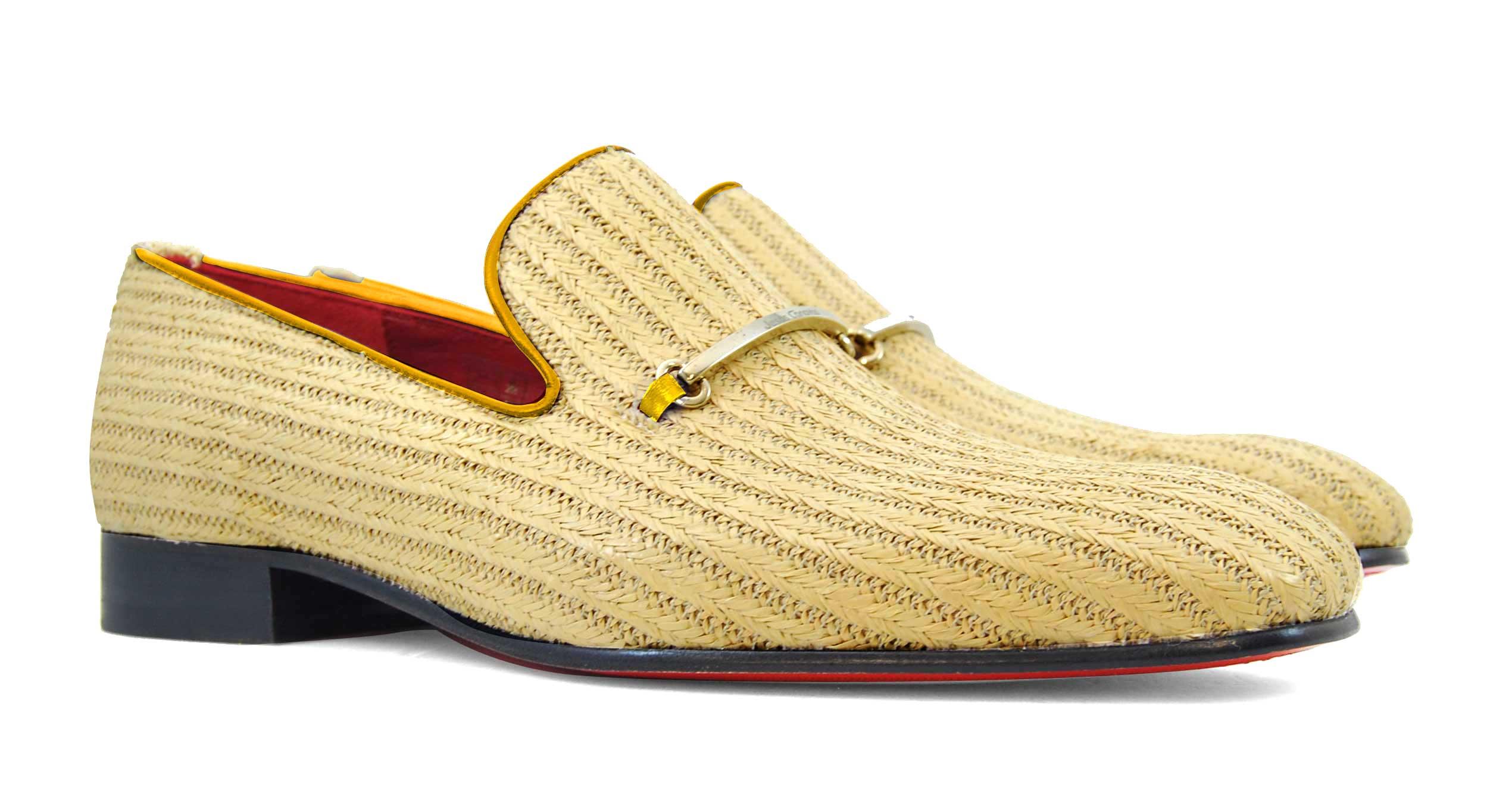 Foto 5 de Zapatos Palma Panameña Con Ribete Amarillo