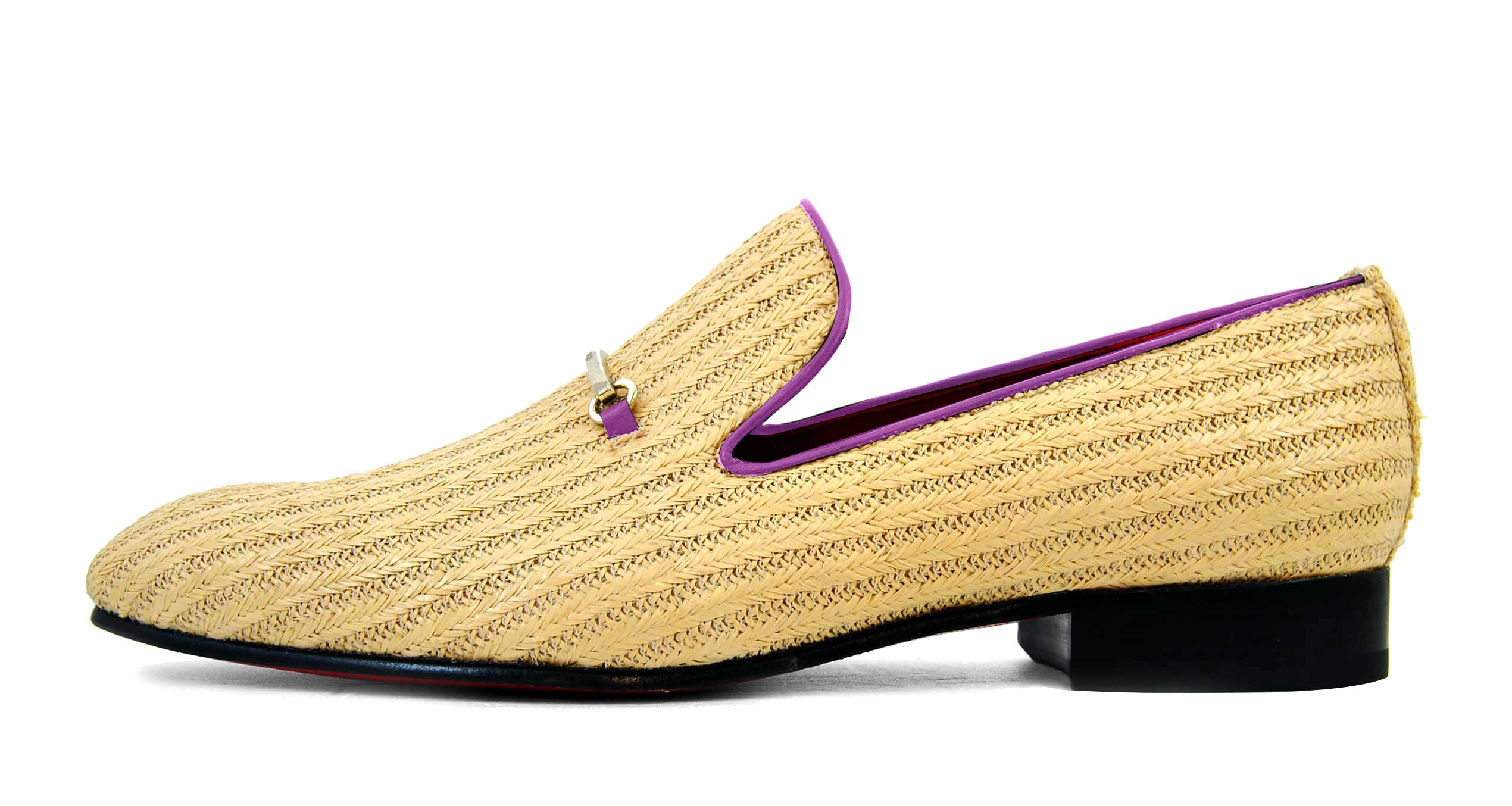 Foto 1 de Zapatos Palma Panameña Con Ribete Morado