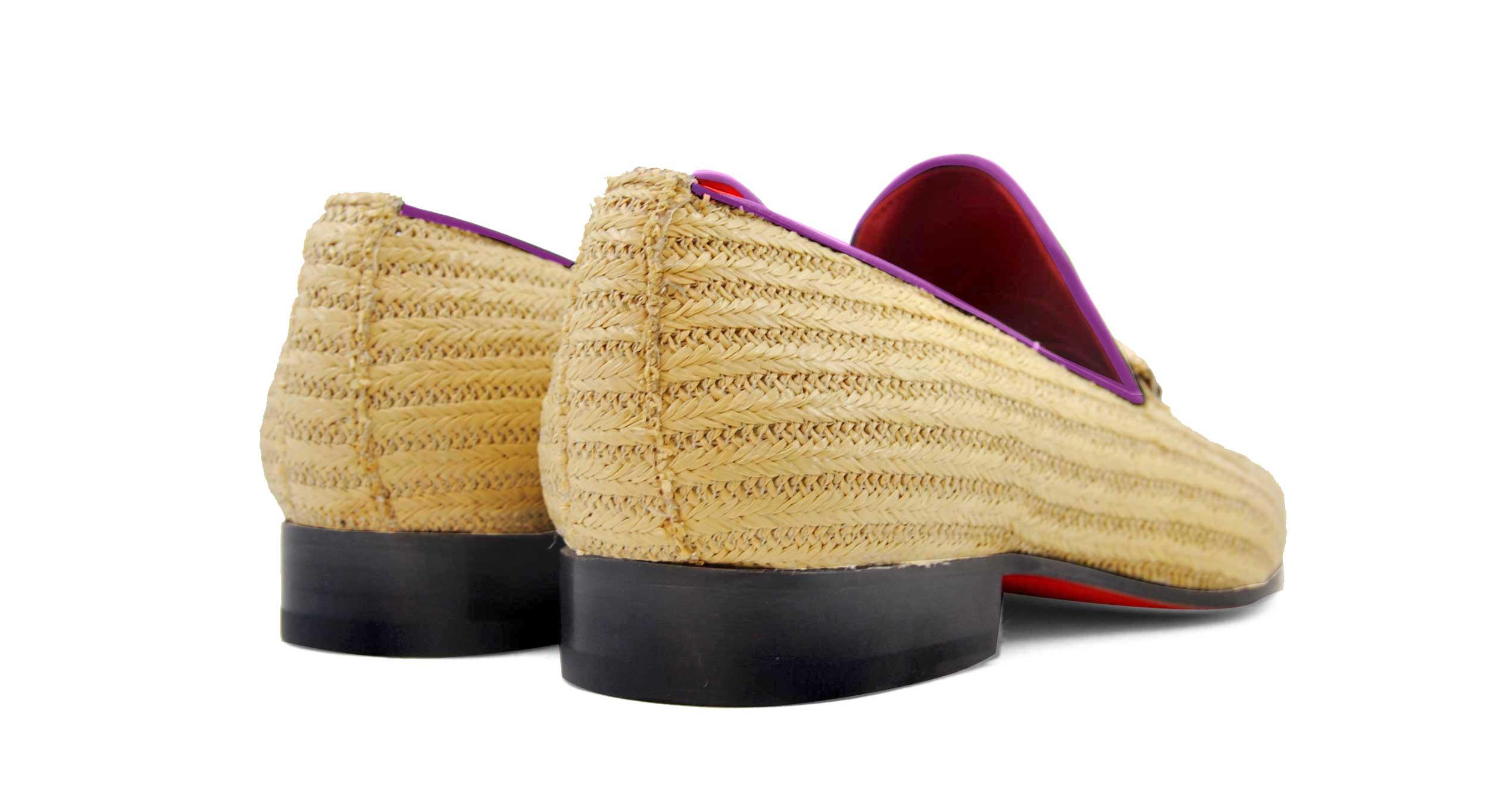 Foto 4 de Zapatos Palma Panameña Con Ribete Morado