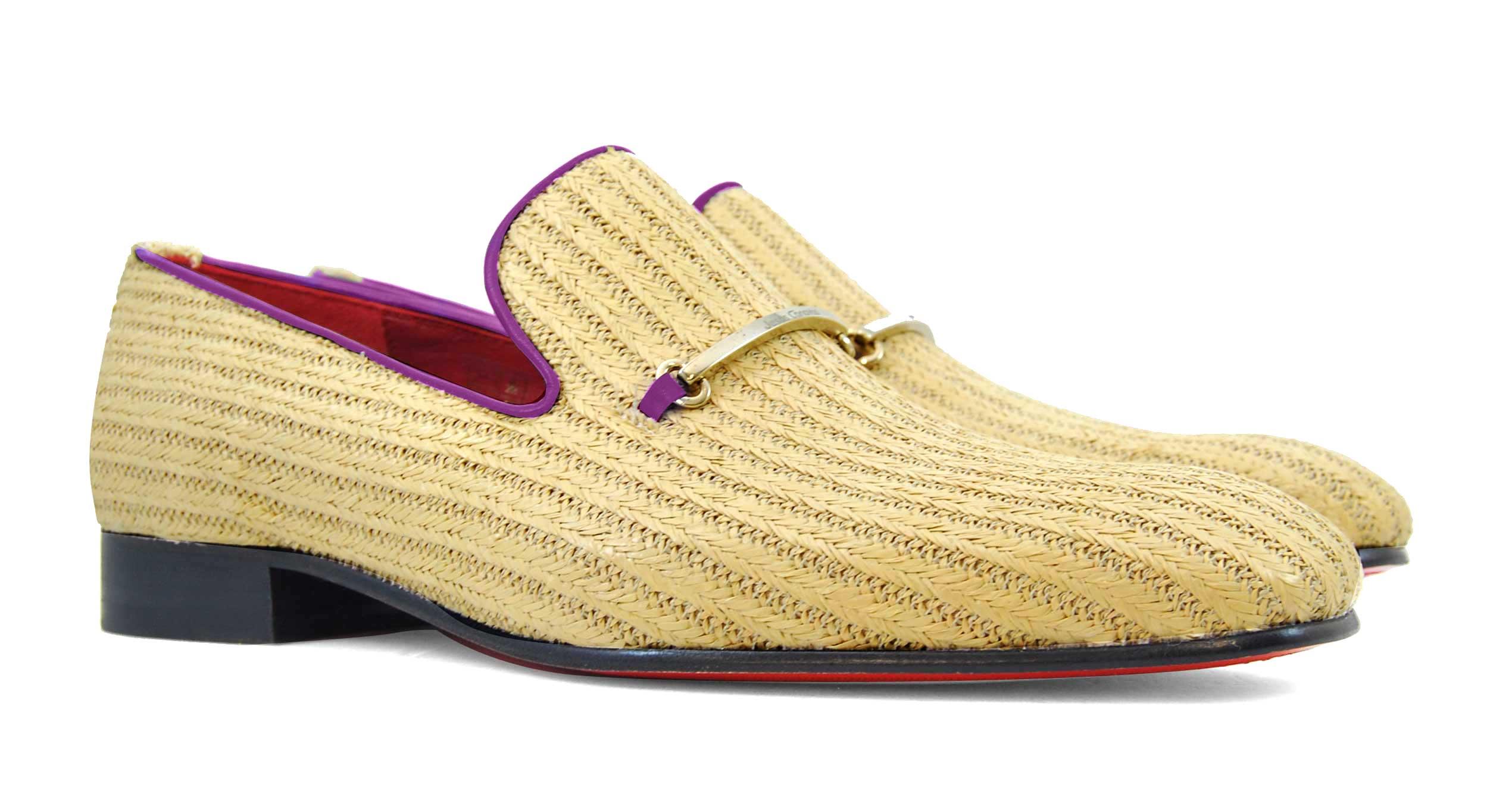 Foto 5 de Zapatos Palma Panameña Con Ribete Morado
