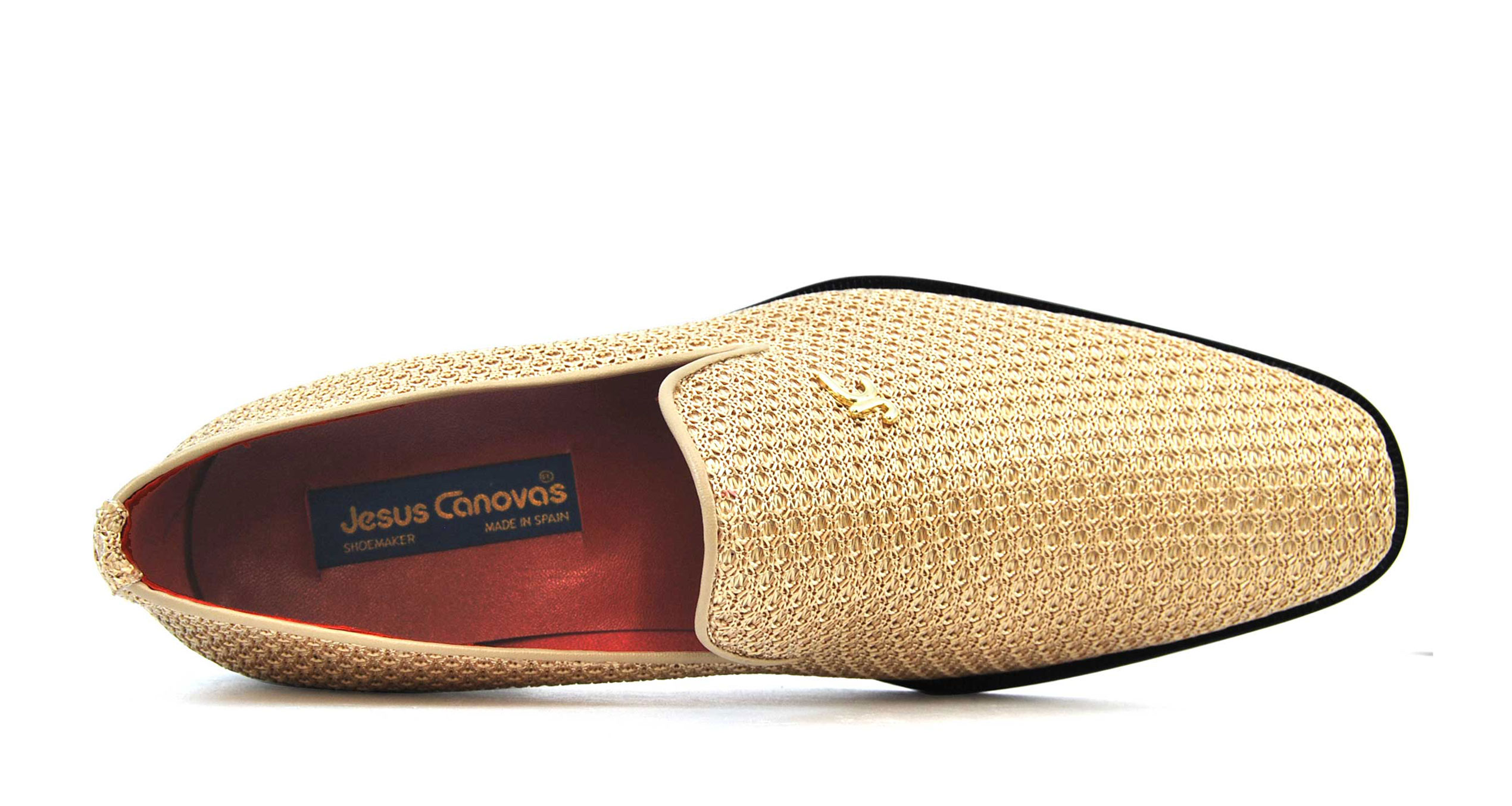 Foto 2 de Zapatos Rafia Trenza Seda Con JC Dorado