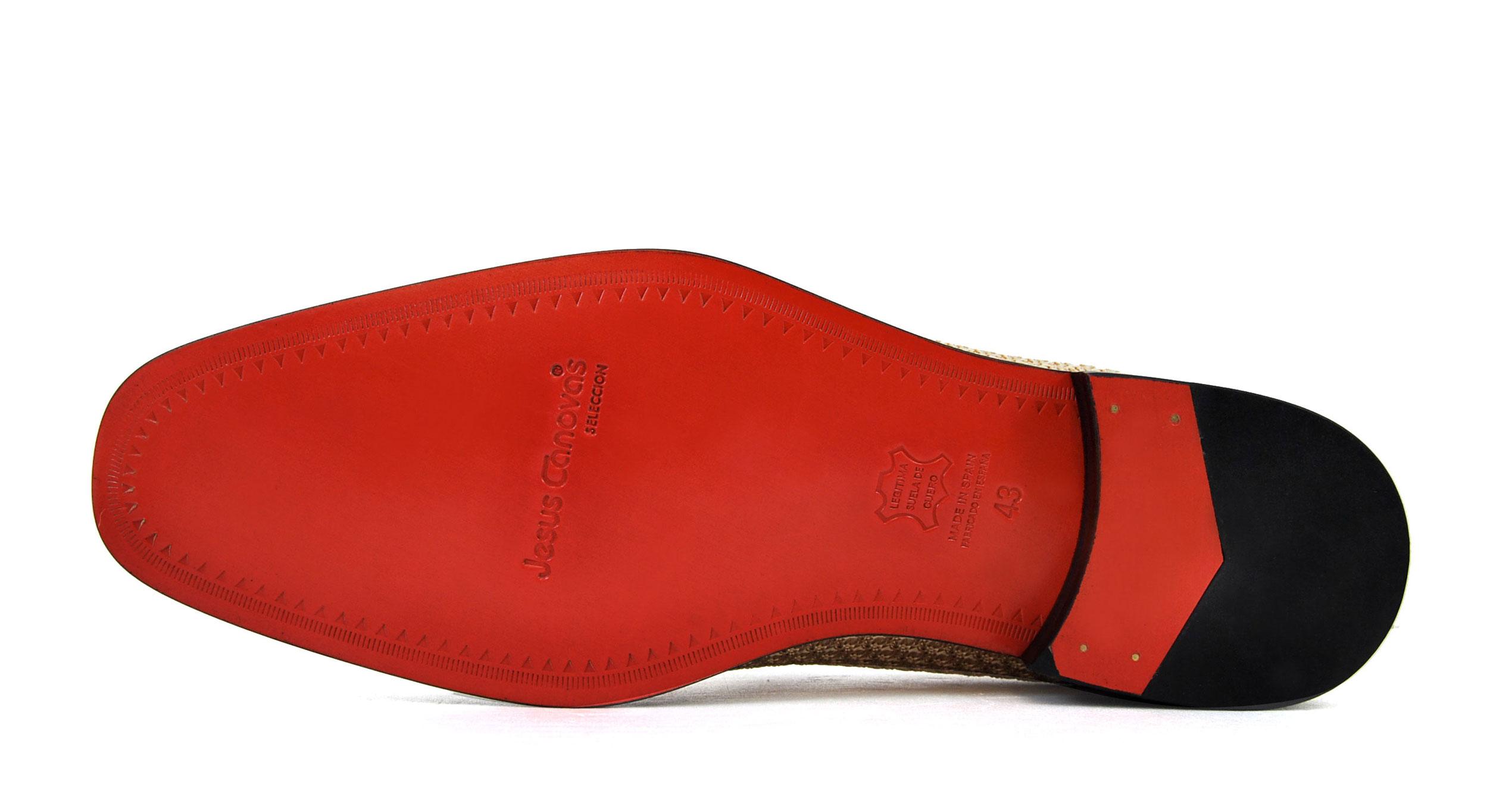 Foto 3 de Zapatos Rafia Trenza Seda Con JC Dorado