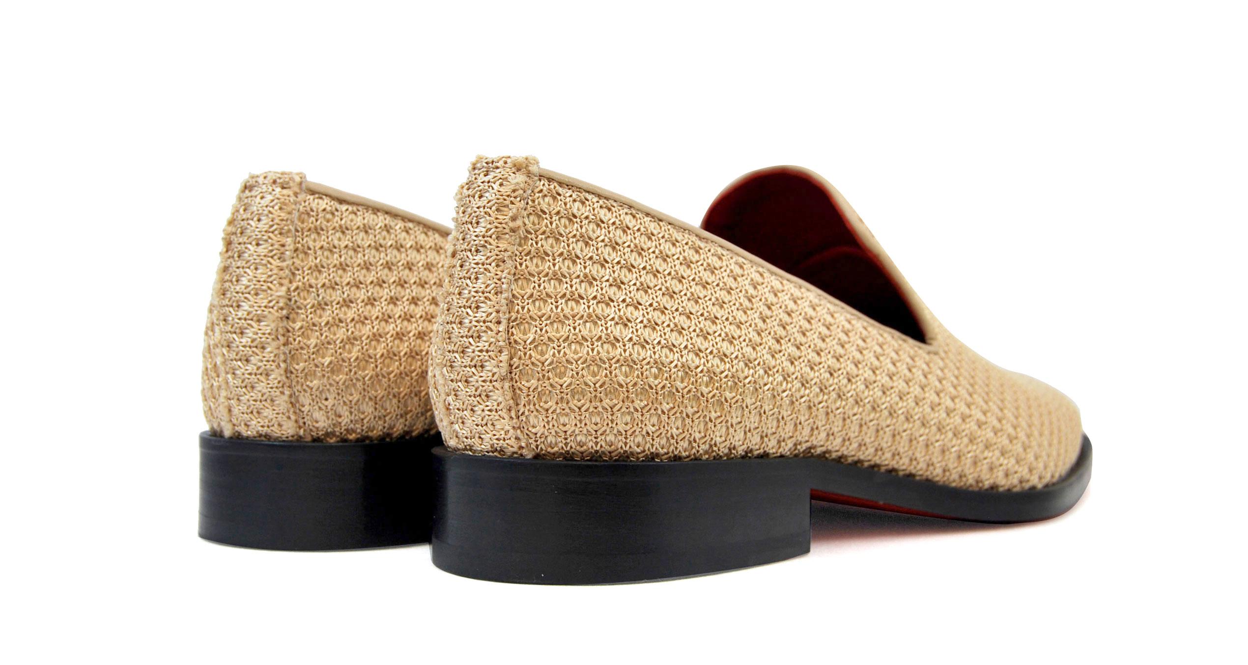 Foto 4 de Zapatos Rafia Trenza Seda Con JC Dorado