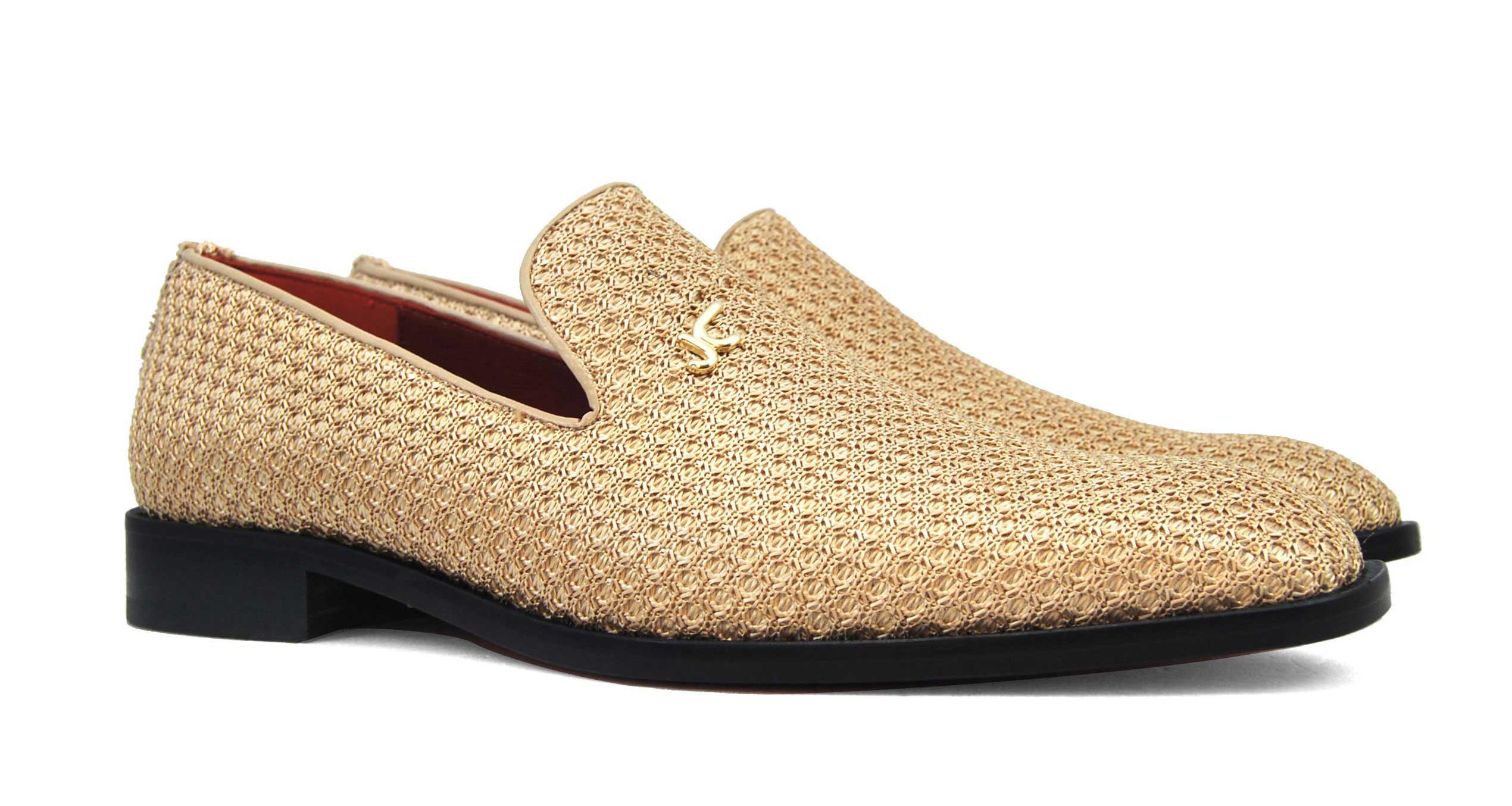 Foto 5 de Zapatos Rafia Trenza Seda Con JC Dorado