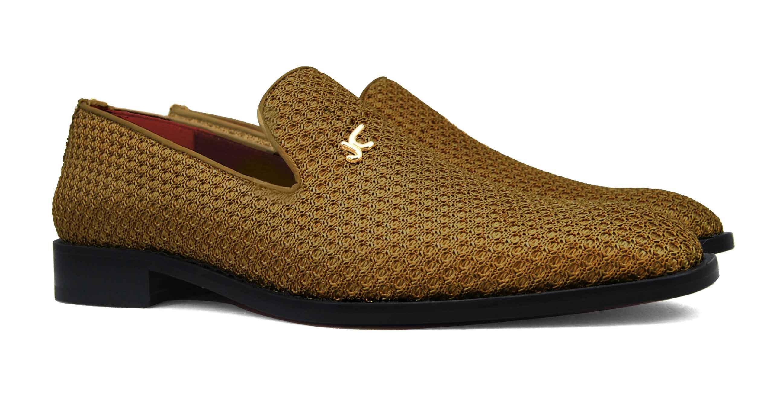 Foto 5 de Zapatos Trenza Seda Marron Con JC Dorado