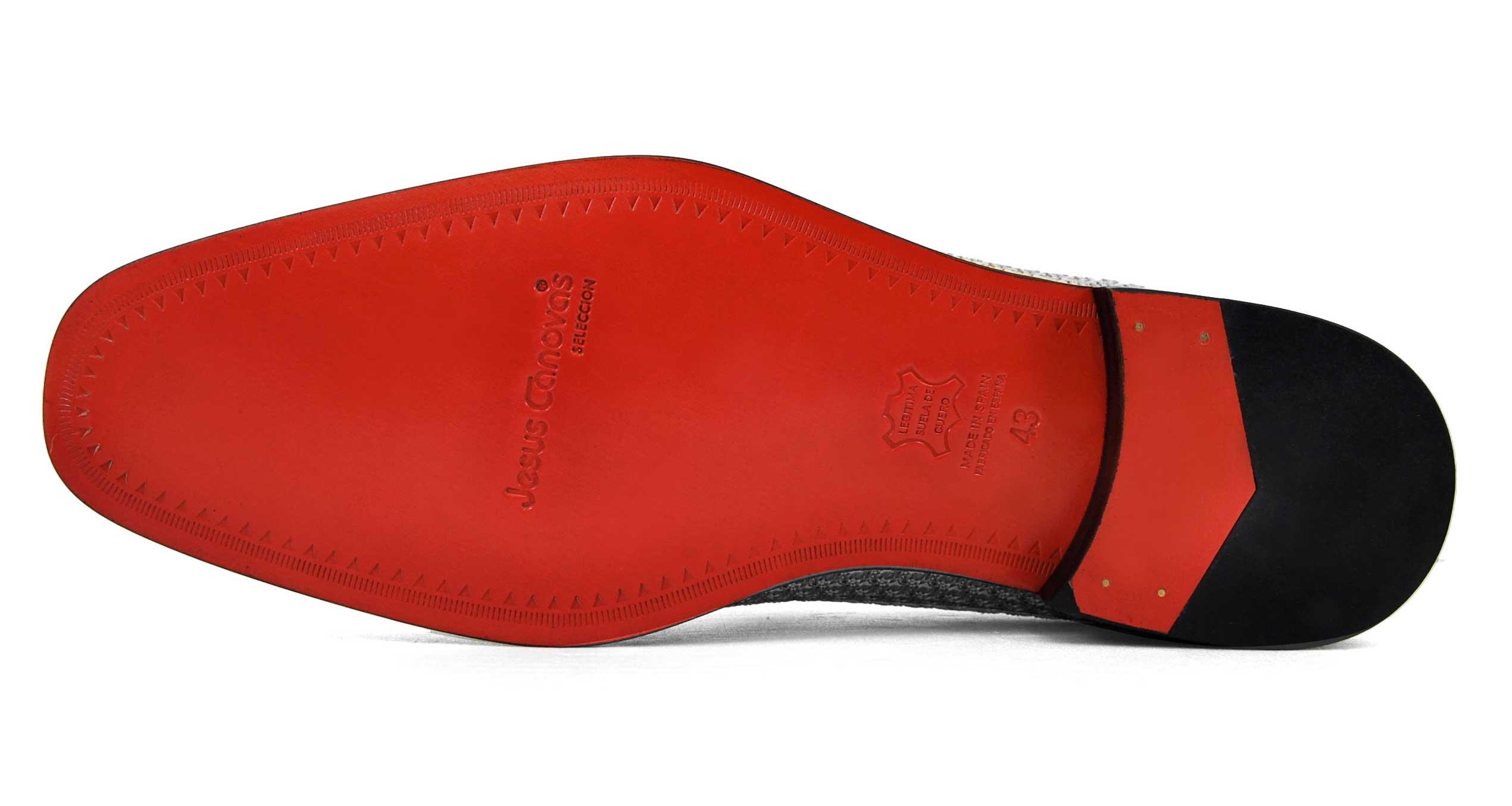 Foto 3 de Zapatos Trenza Seda Plata Negro Con JC Dorado