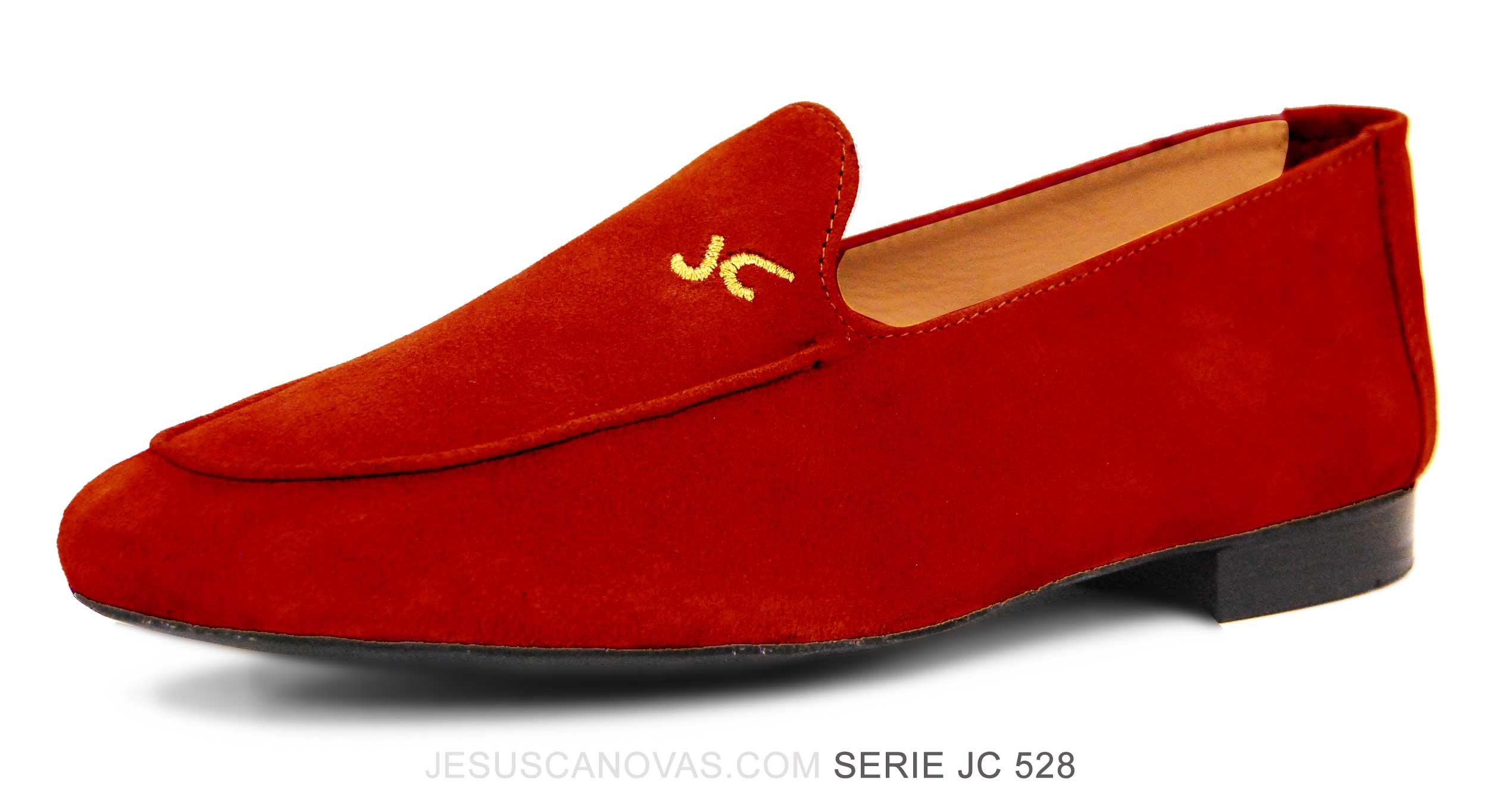 Foto 5 de Zapatos Julio Iglesias Mocasin Rojo Pasion Ante