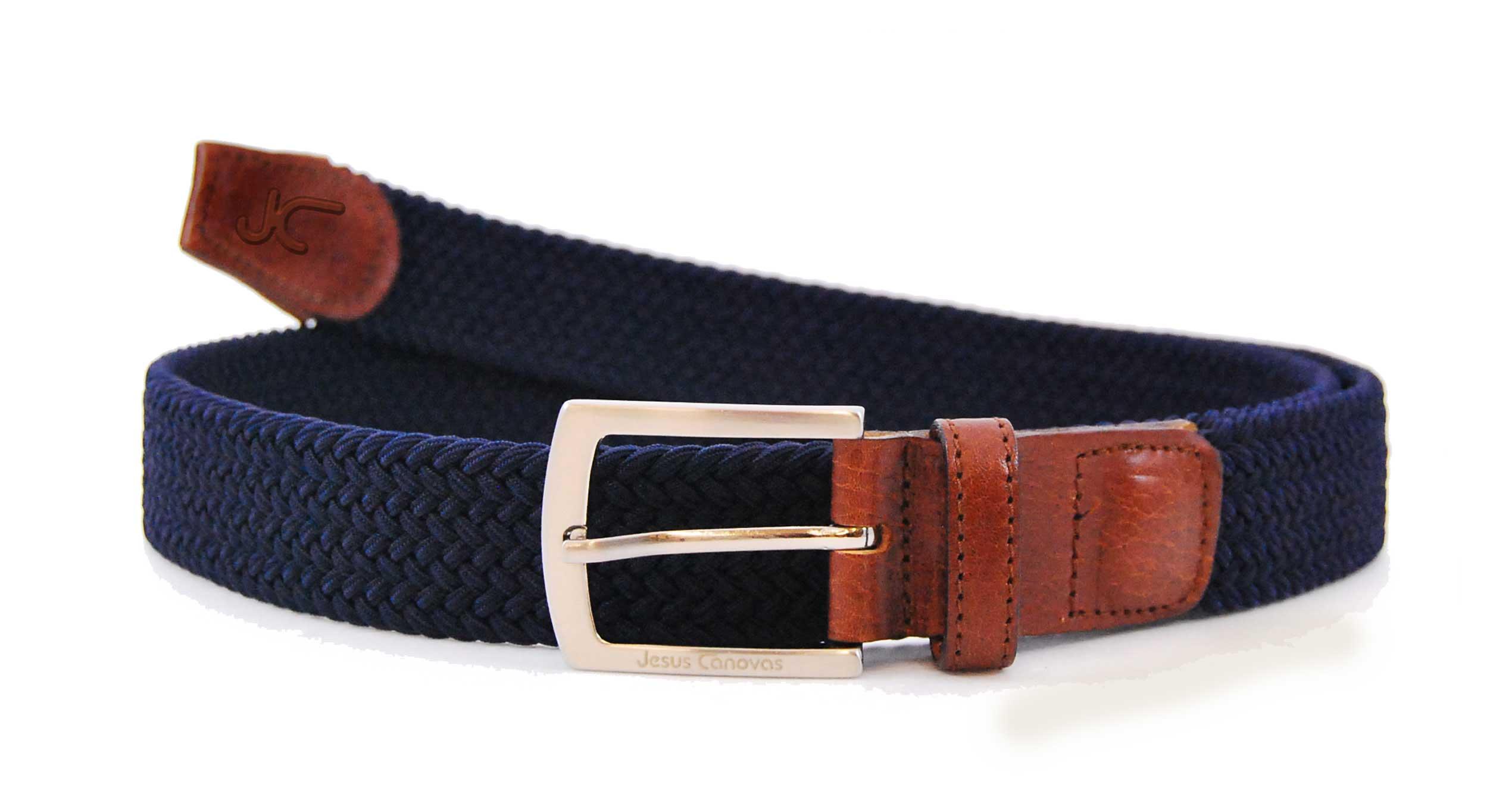 Foto 1 de Cinturon Trenzado Elastico Marino