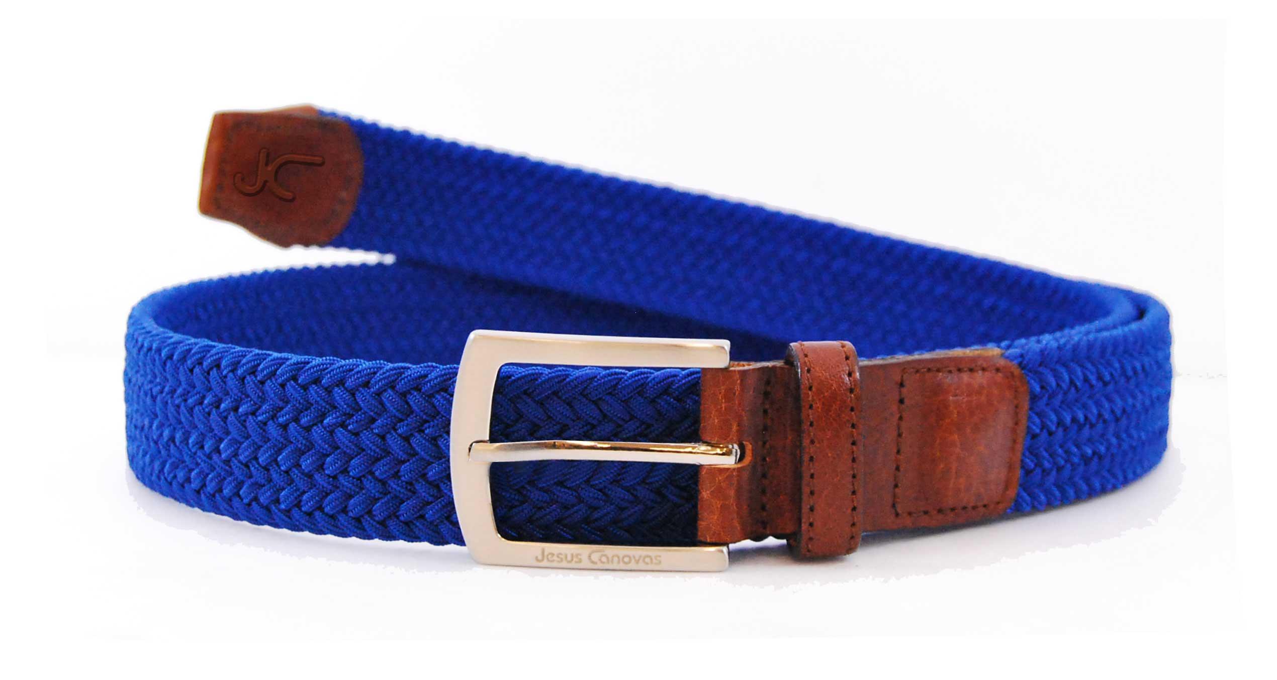 Foto 1 de Cinturon Trenzado Elastico Azulon