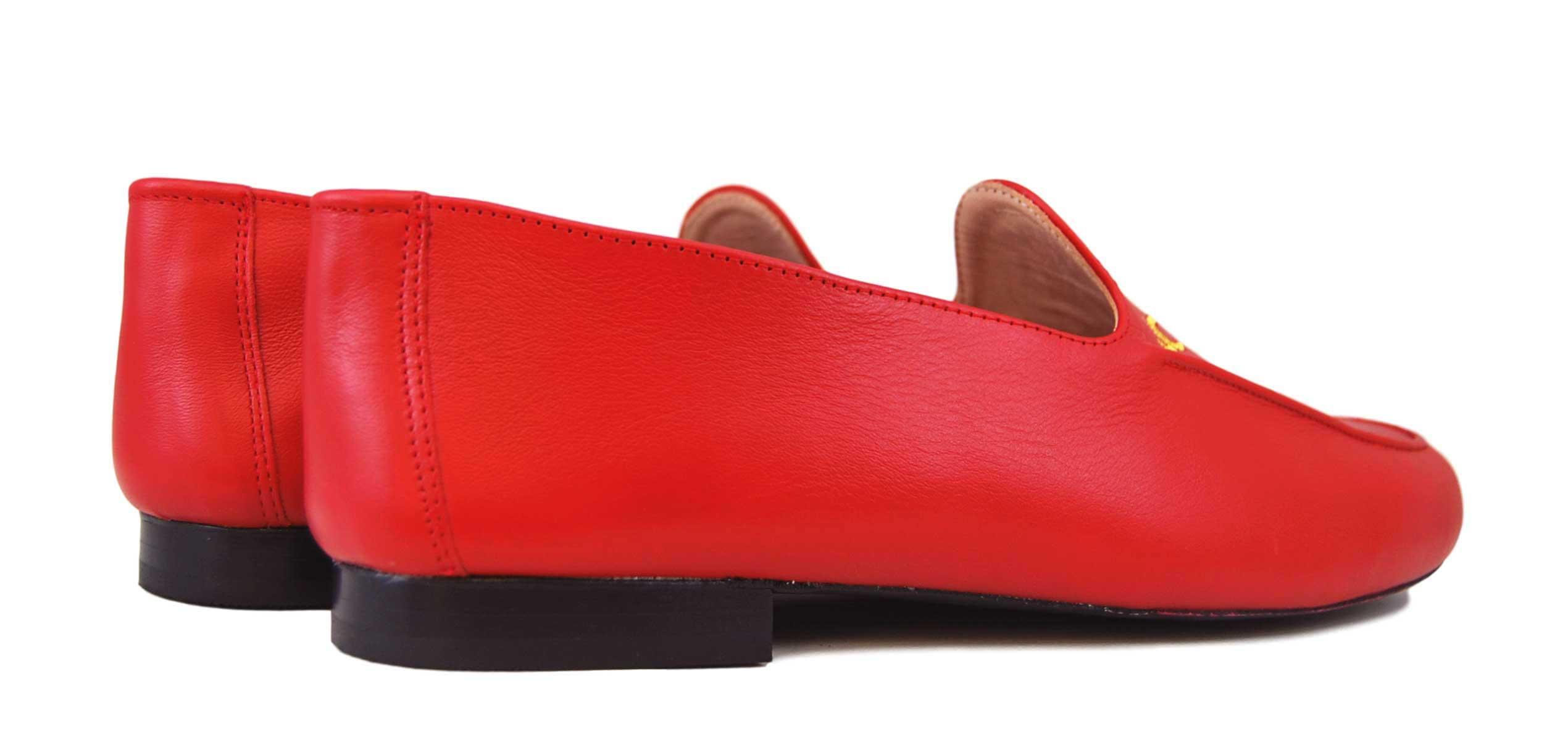 Foto 4 de Zapatos Julio Iglesias Mocasin 528 JC Rojo Napa