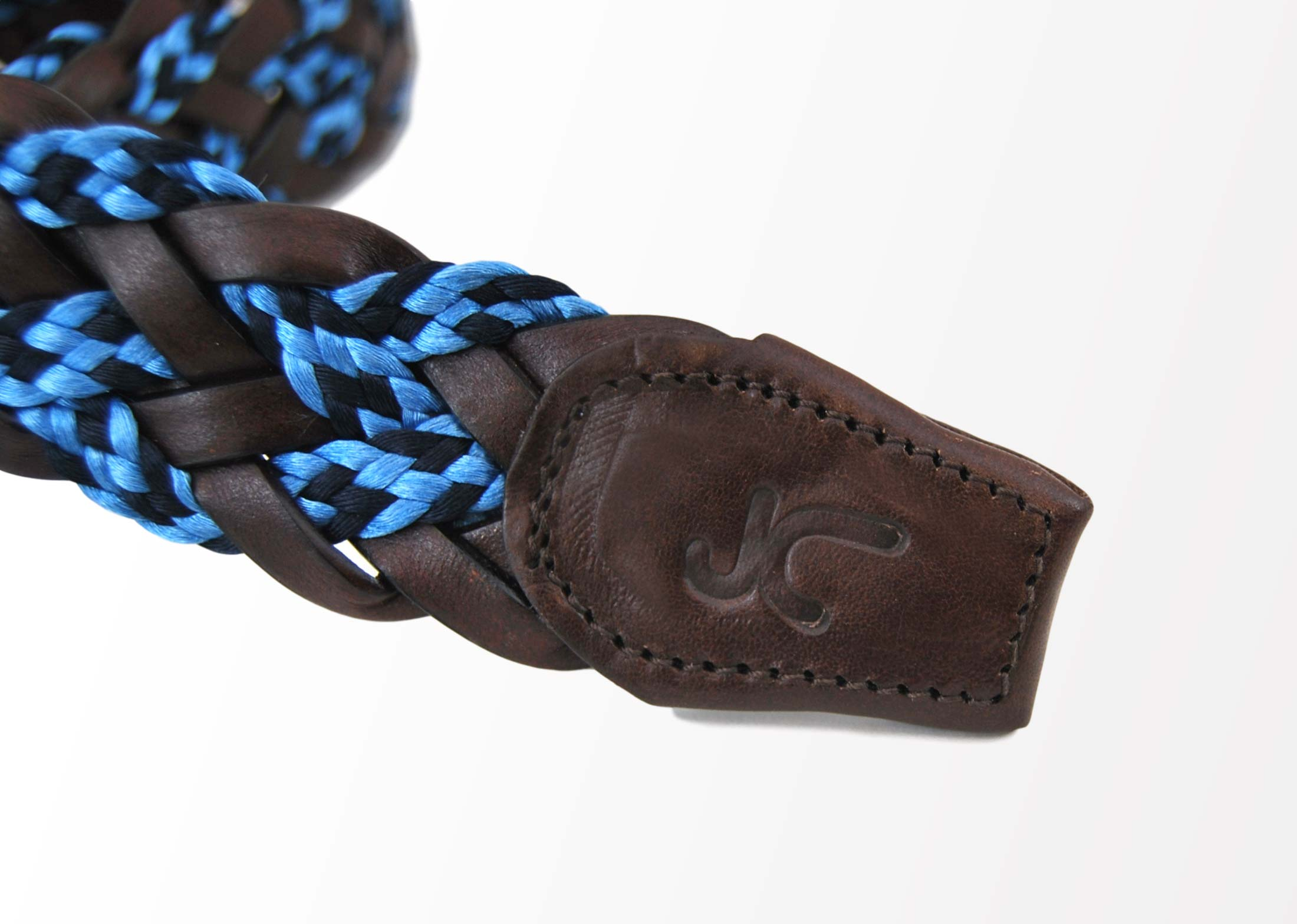 Foto 2 de Cinturon Trenzado Elastico Cuero - Azulon