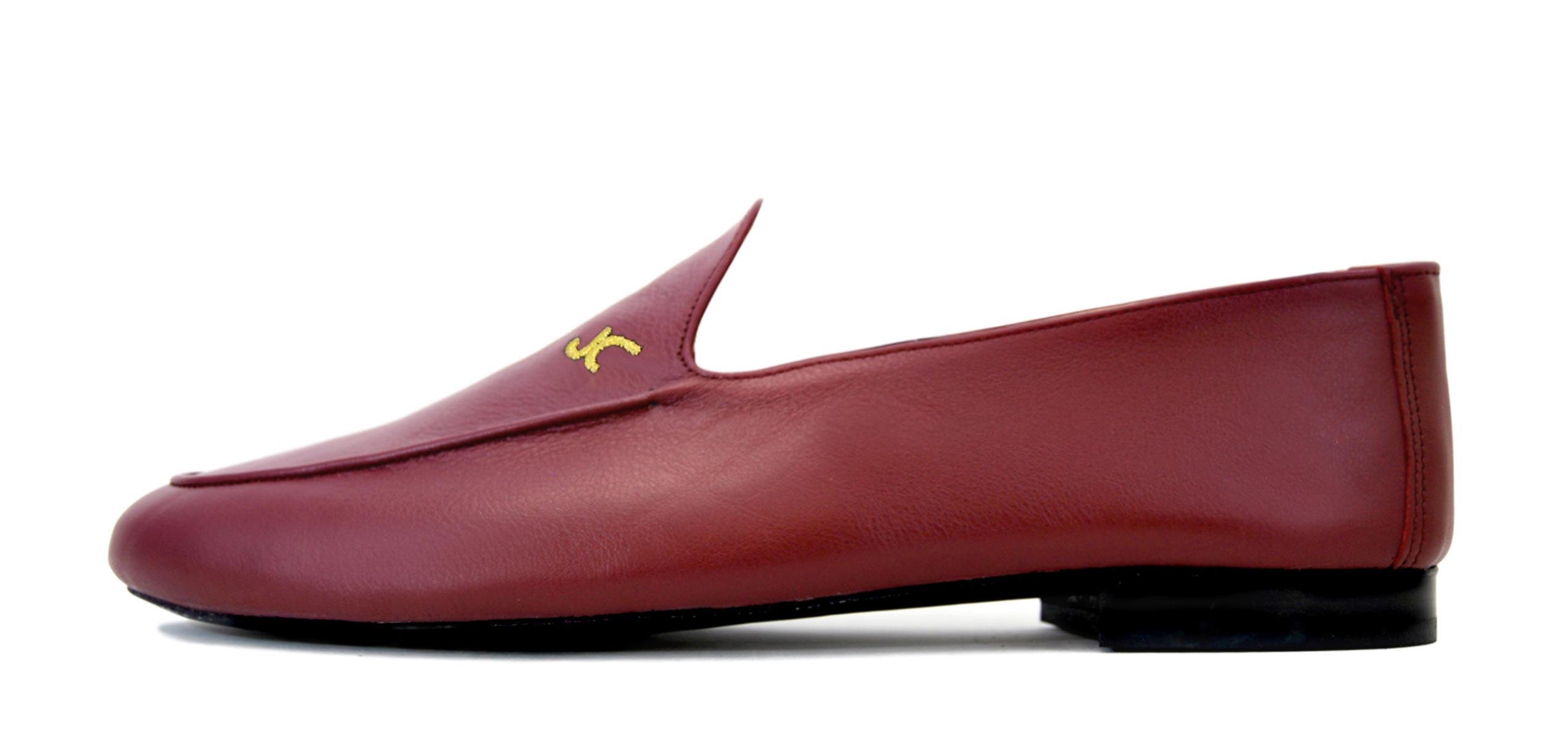 Foto 1 de Zapatos Julio Iglesias Mocasin 528 JC Burdeos Napa