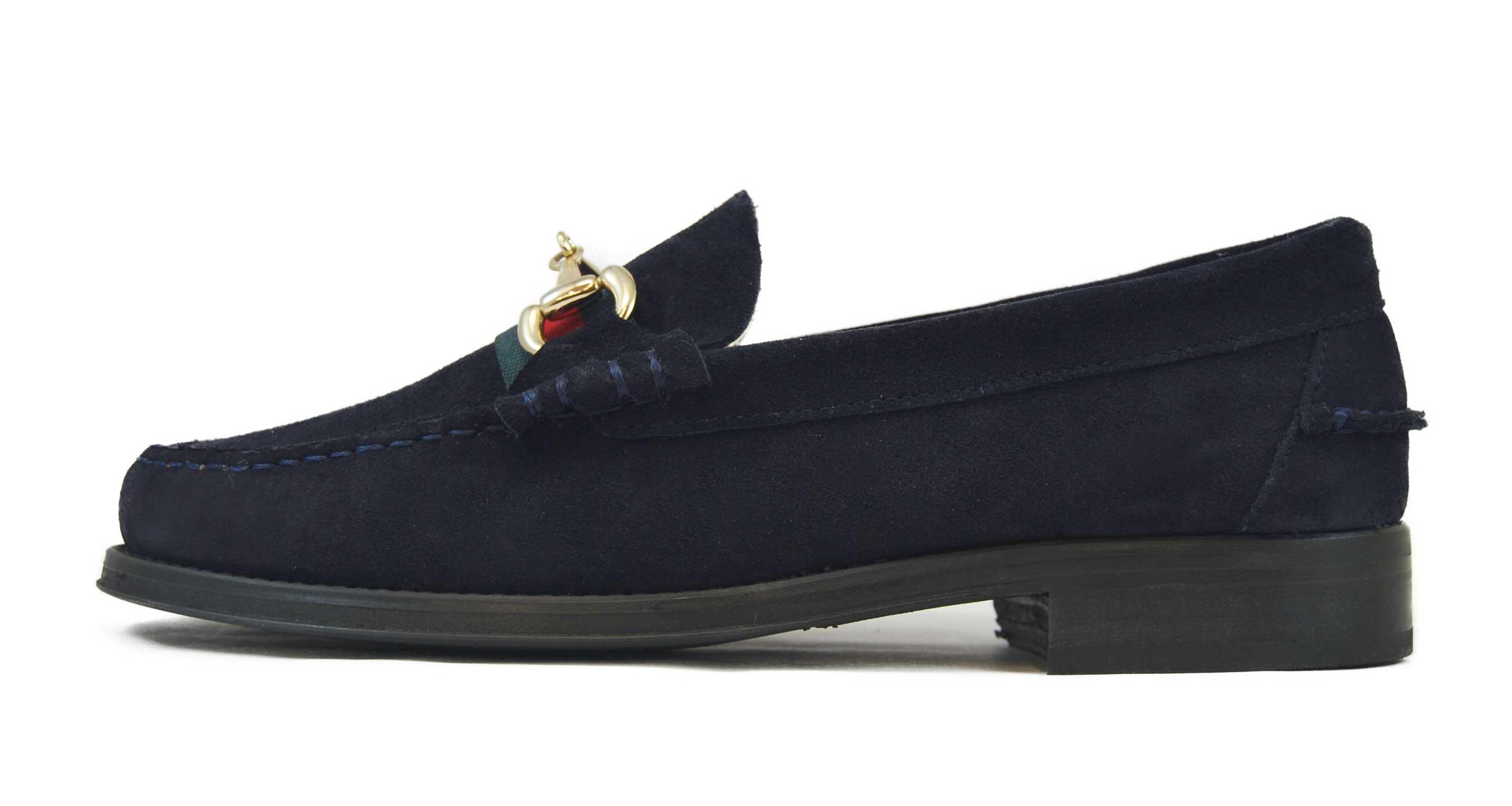 Foto 1 de Zapatos Ante Marino con Estribo