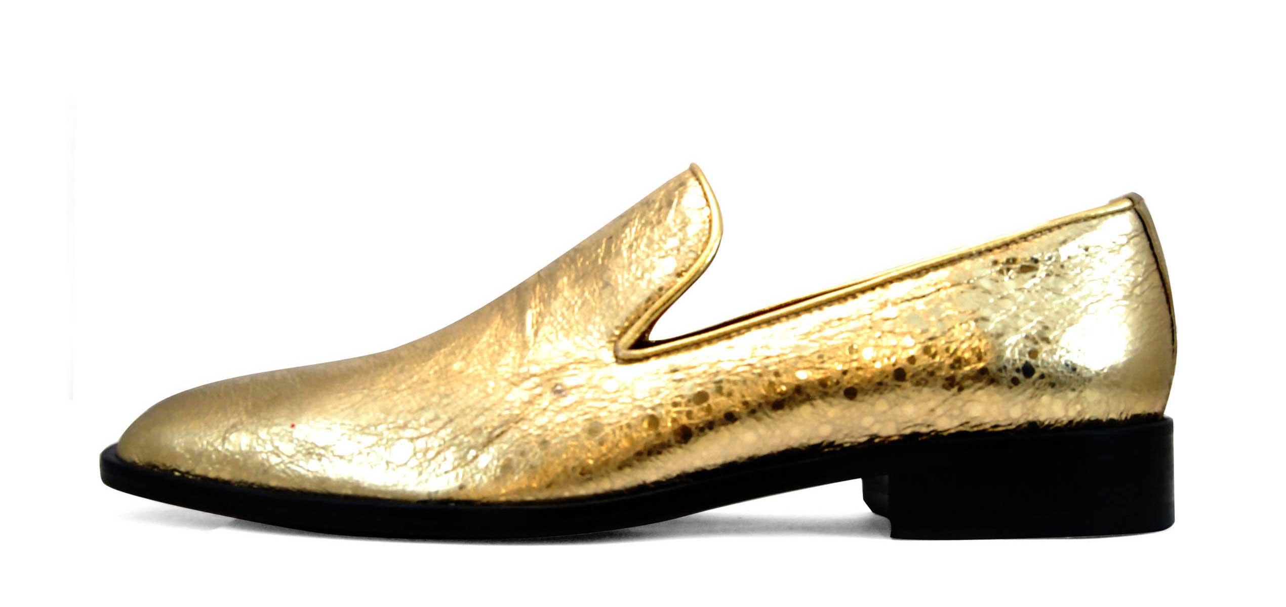 Foto 1 de Zapatos Napa Dorado