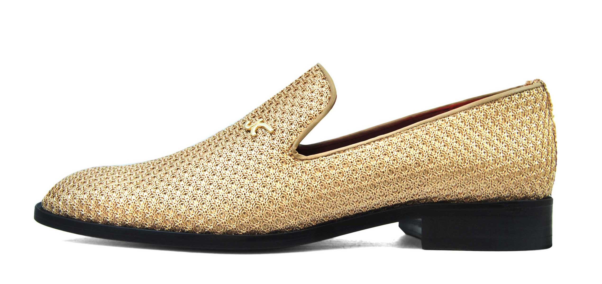 Foto 1 de Zapatos Rafia Trenza Seda Con JC Dorado