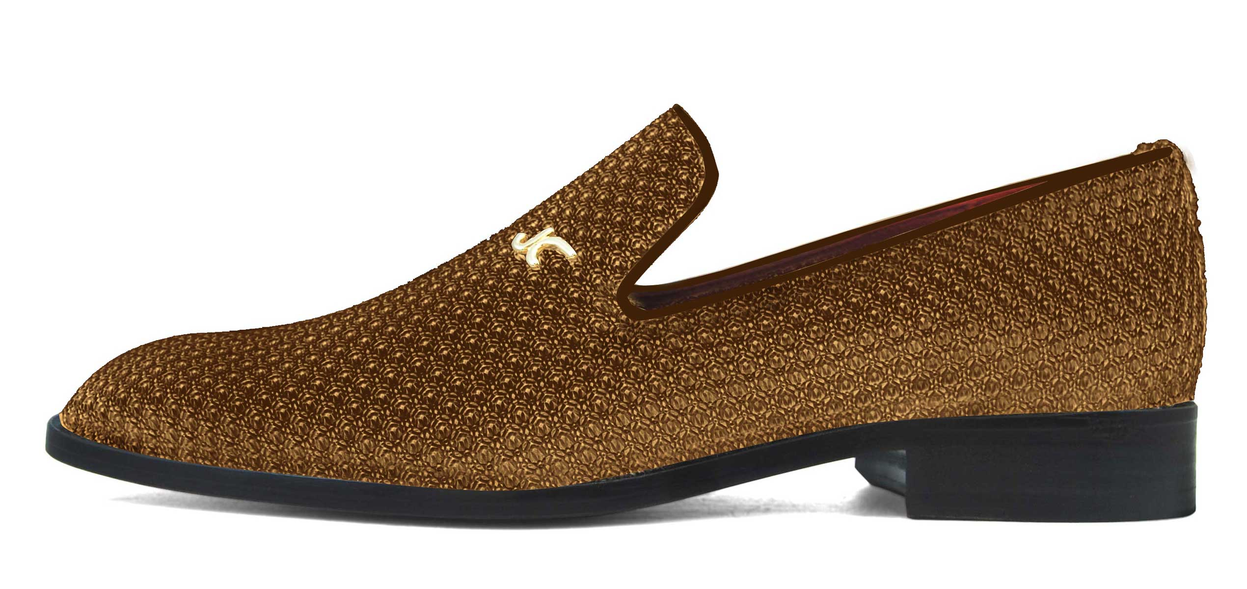 Foto 1 de Zapatos Trenza Seda Marron Con JC Dorado