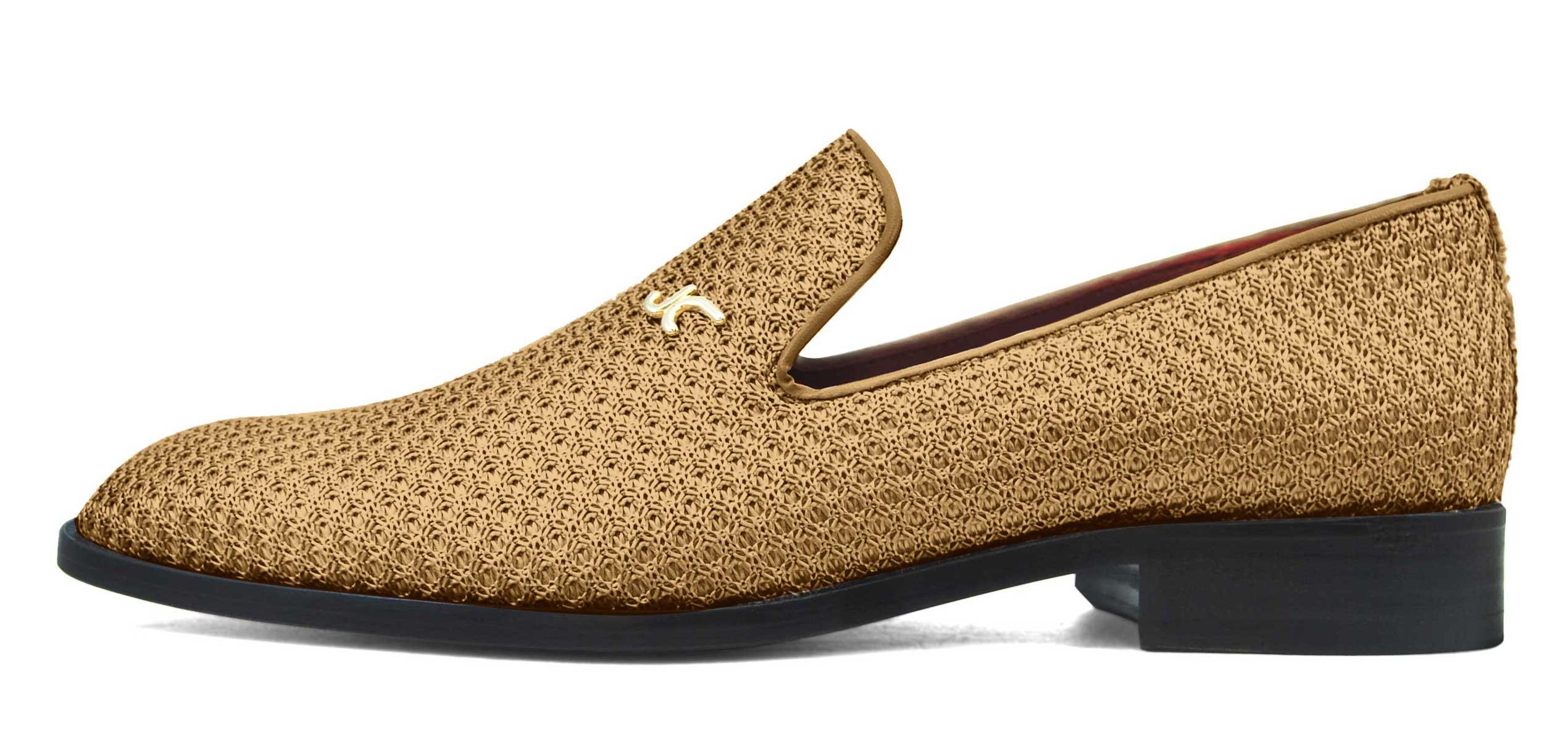 Foto 1 de Zapatos Trenza Seda Cobre Con JC Dorado