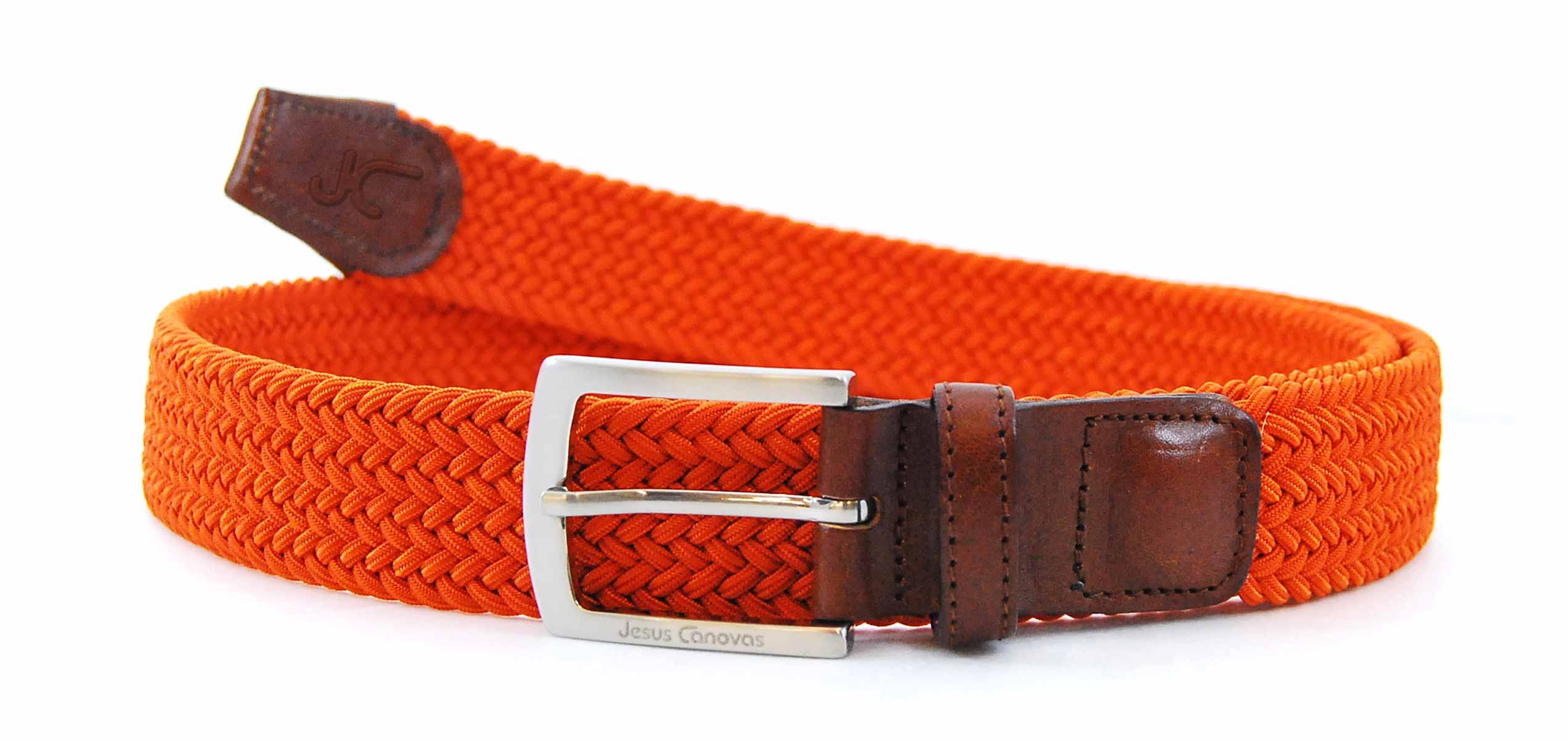 Foto 1 de Cinturon Trenzado Elastico Naranja