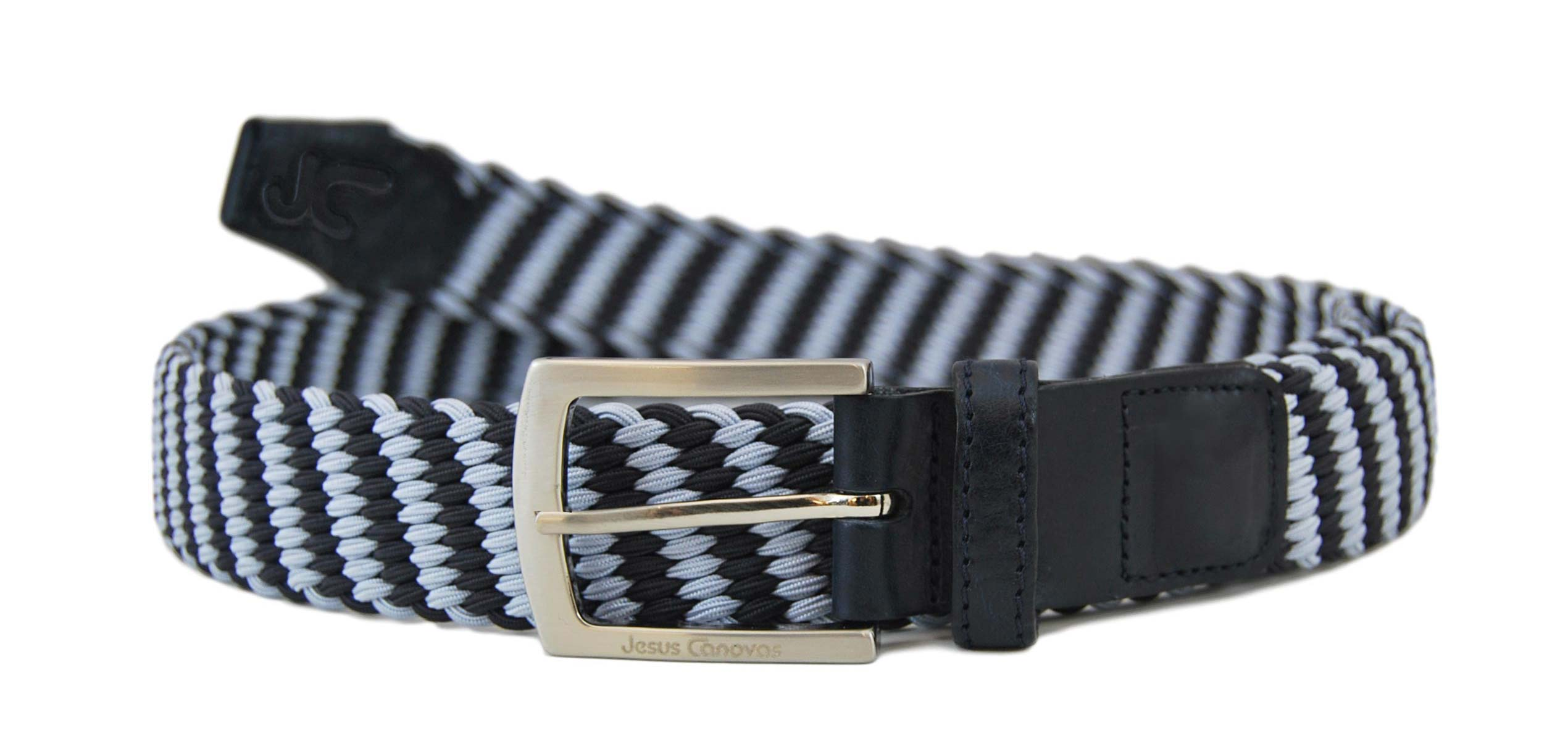 Foto 1 de Cinturon Trenzado Elastico Marino-Cielo