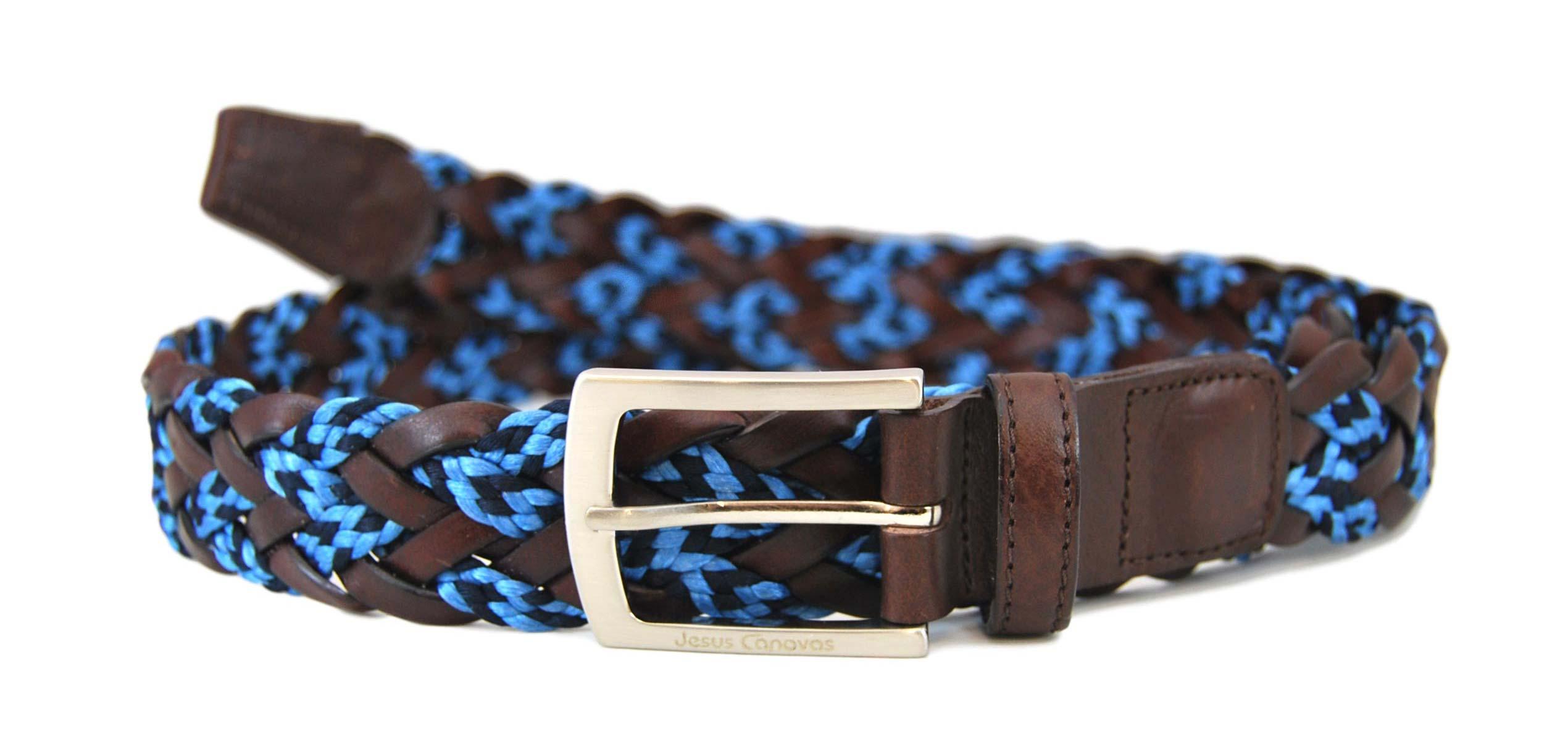 Foto 1 de Cinturon Trenzado Elastico Cuero - Azulon