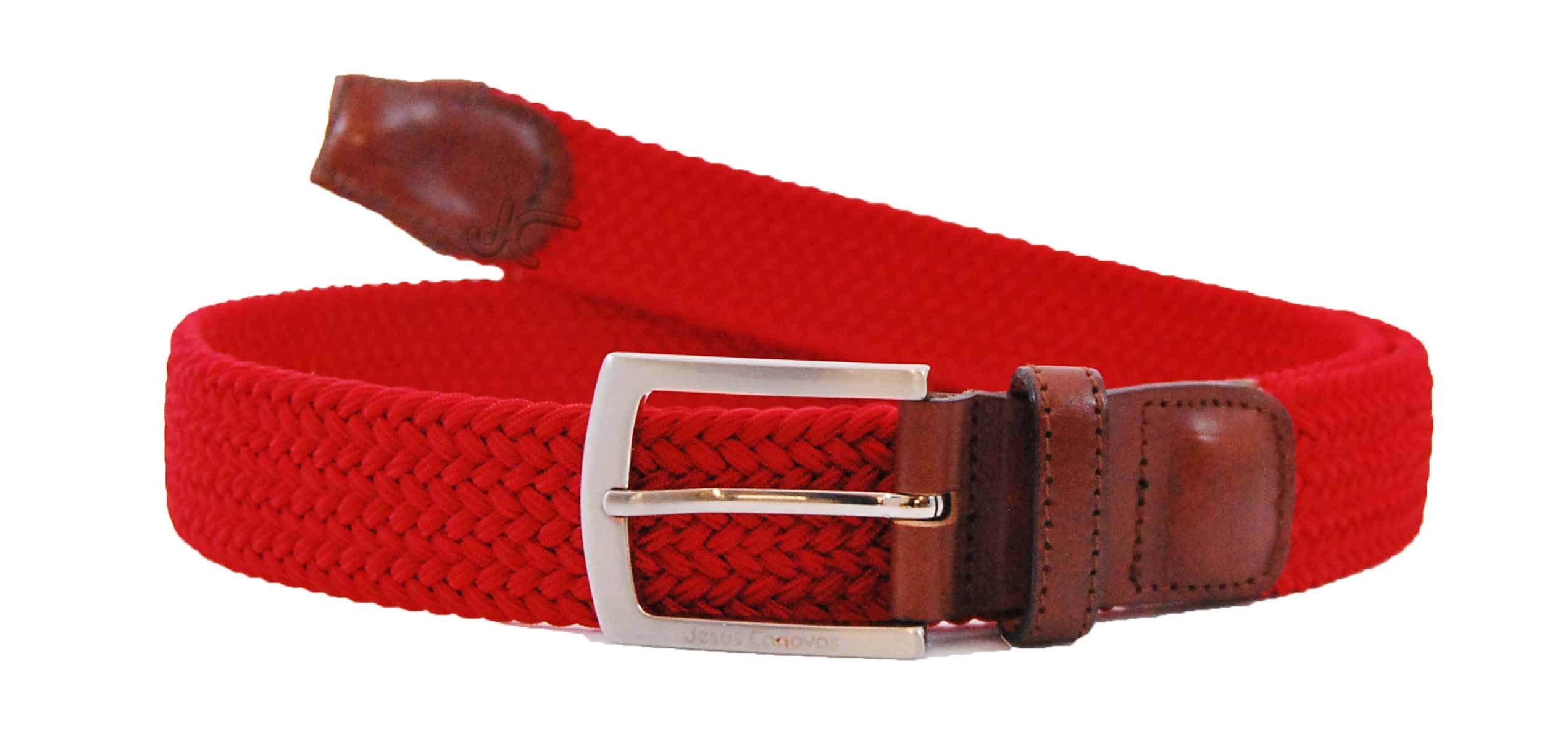 Foto 1 de Cinturon Trenzado Elastico Rojo