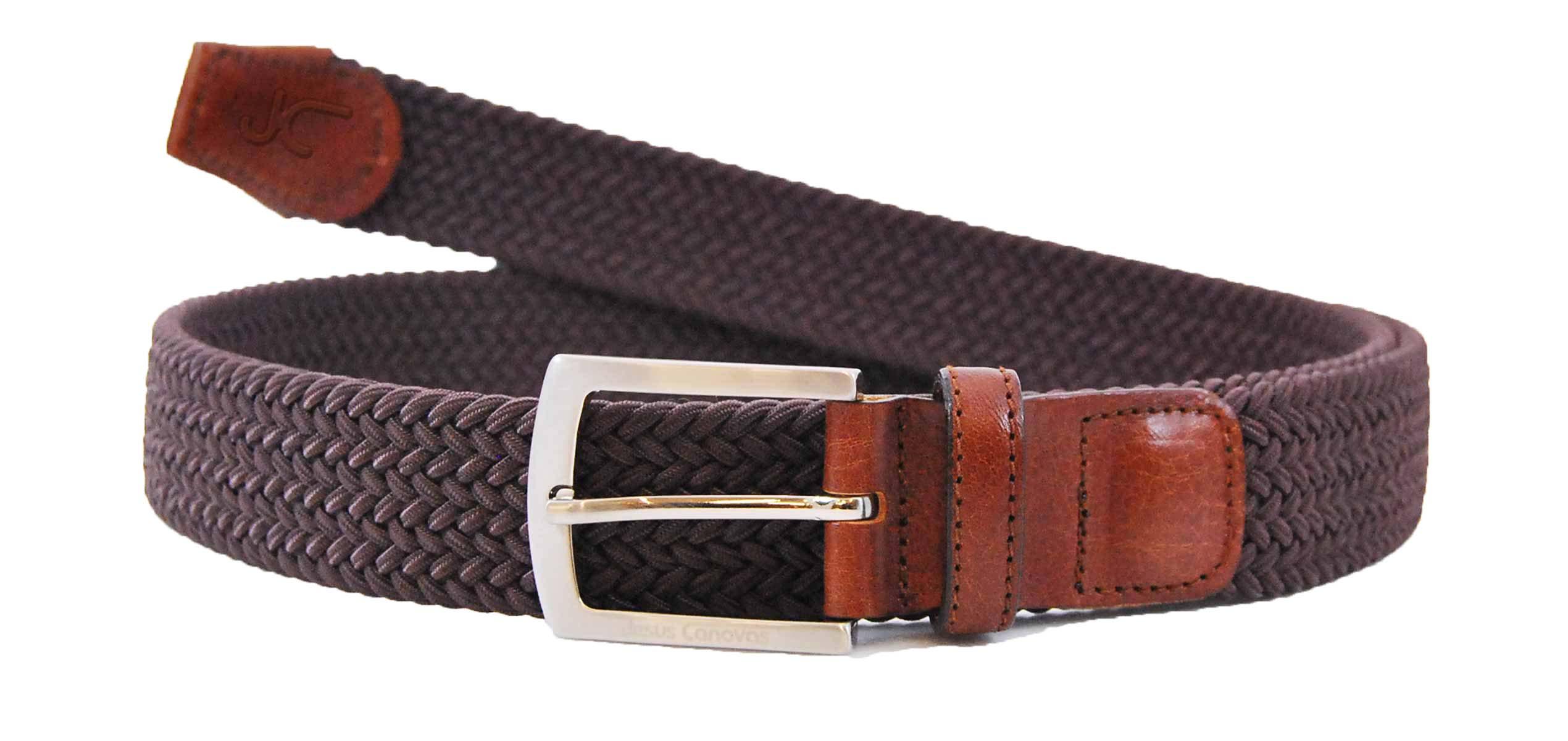 Foto 1 de Cinturon Trenzado Elastico Marrón