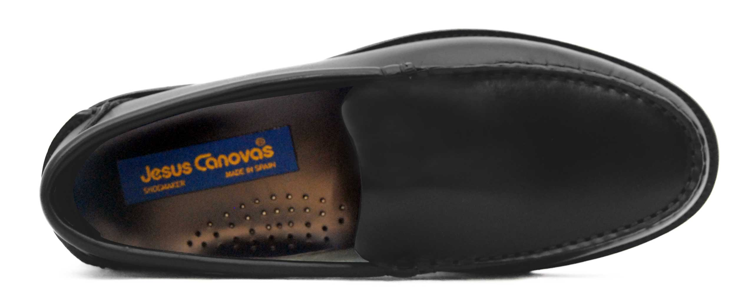 Foto 2 de Zapato Castellano 102 Liso Negro Botones