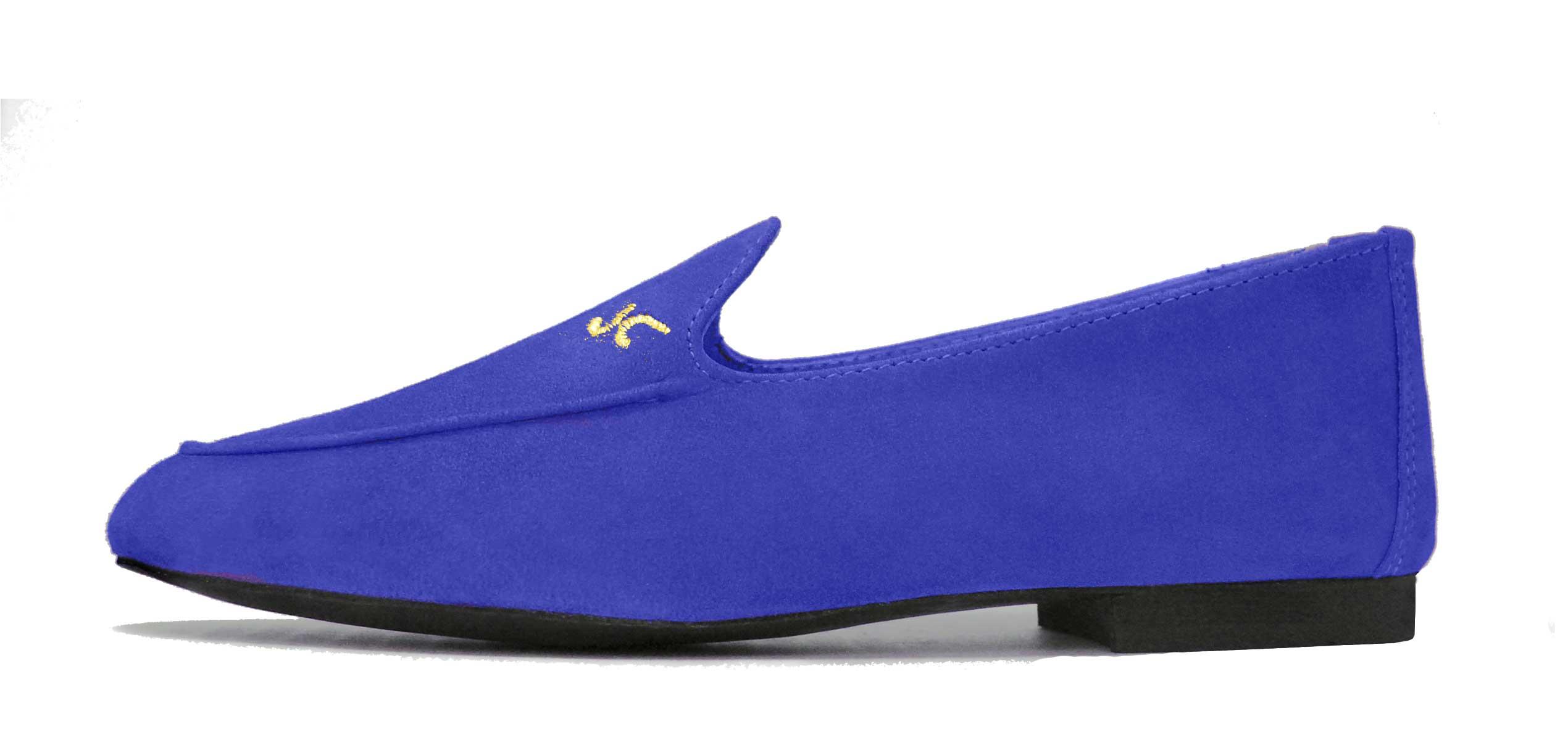 Foto 1 de Zapatos Julio Iglesias Mocasin Ante Azulon