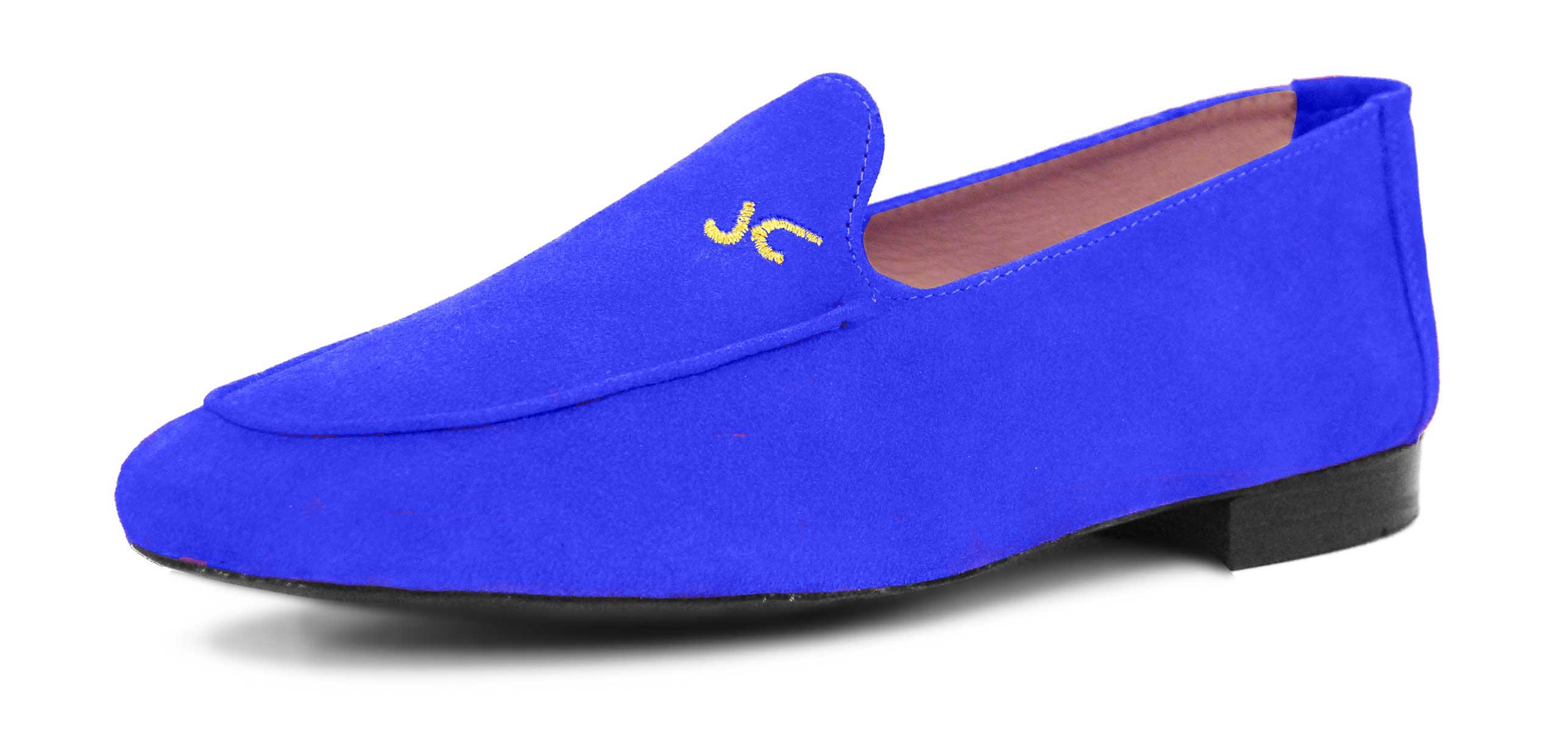 Foto 4 de Zapatos Julio Iglesias Mocasin Ante Azulon