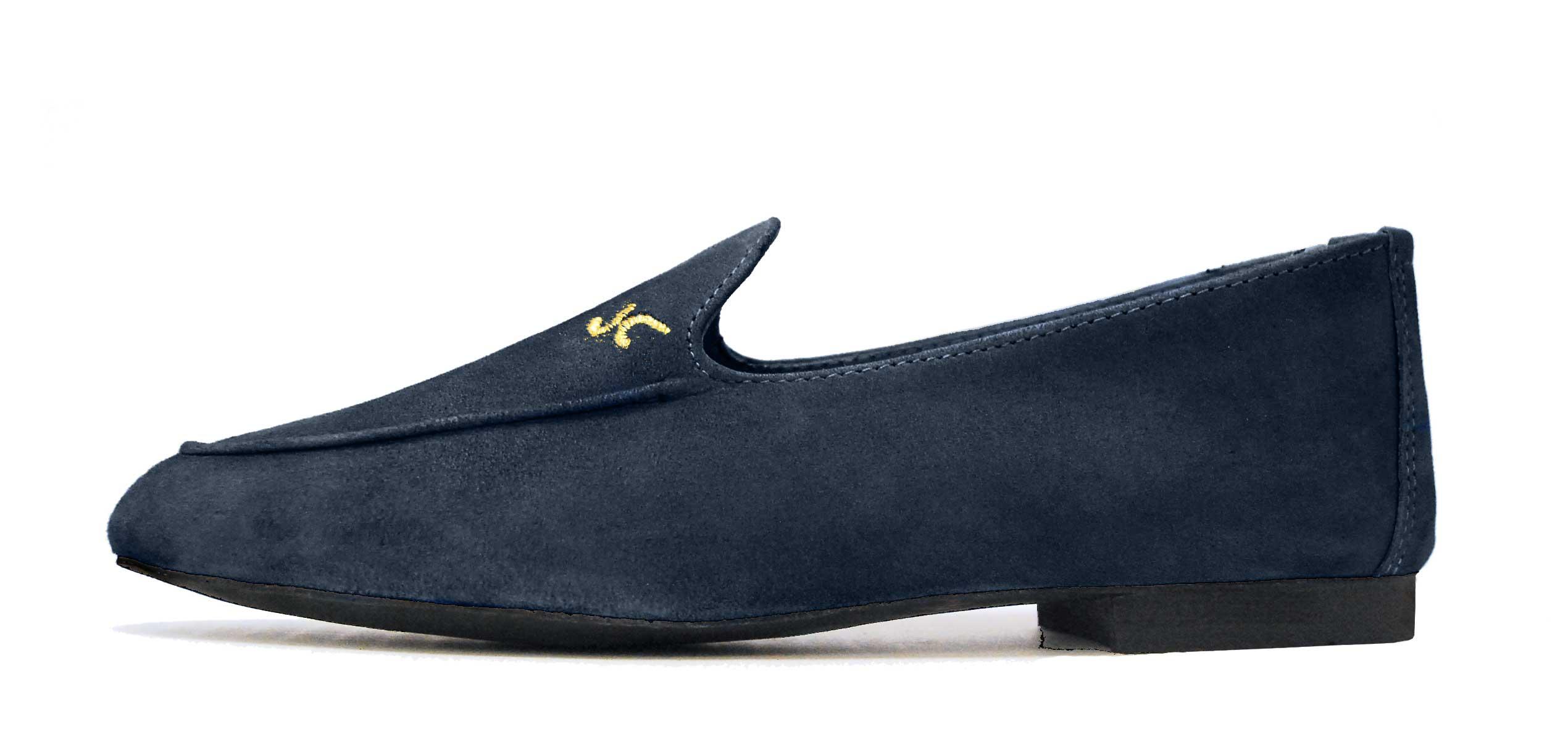 Foto 1 de Zapatos Julio Iglesias Mocasin Marino Ante