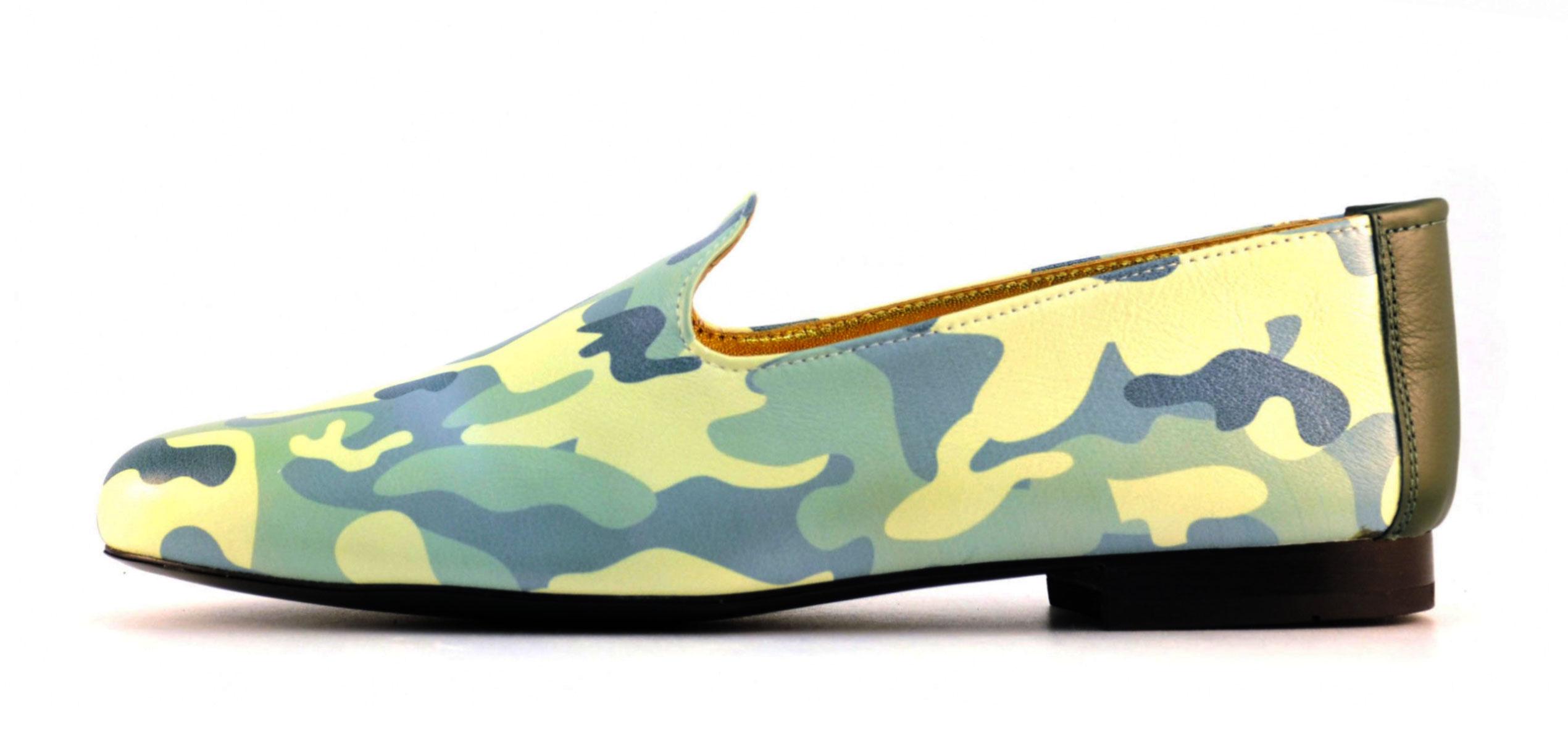 Foto 1 de Zapato Mocasin Mimic Camuflage - Napa Blanca Impresa