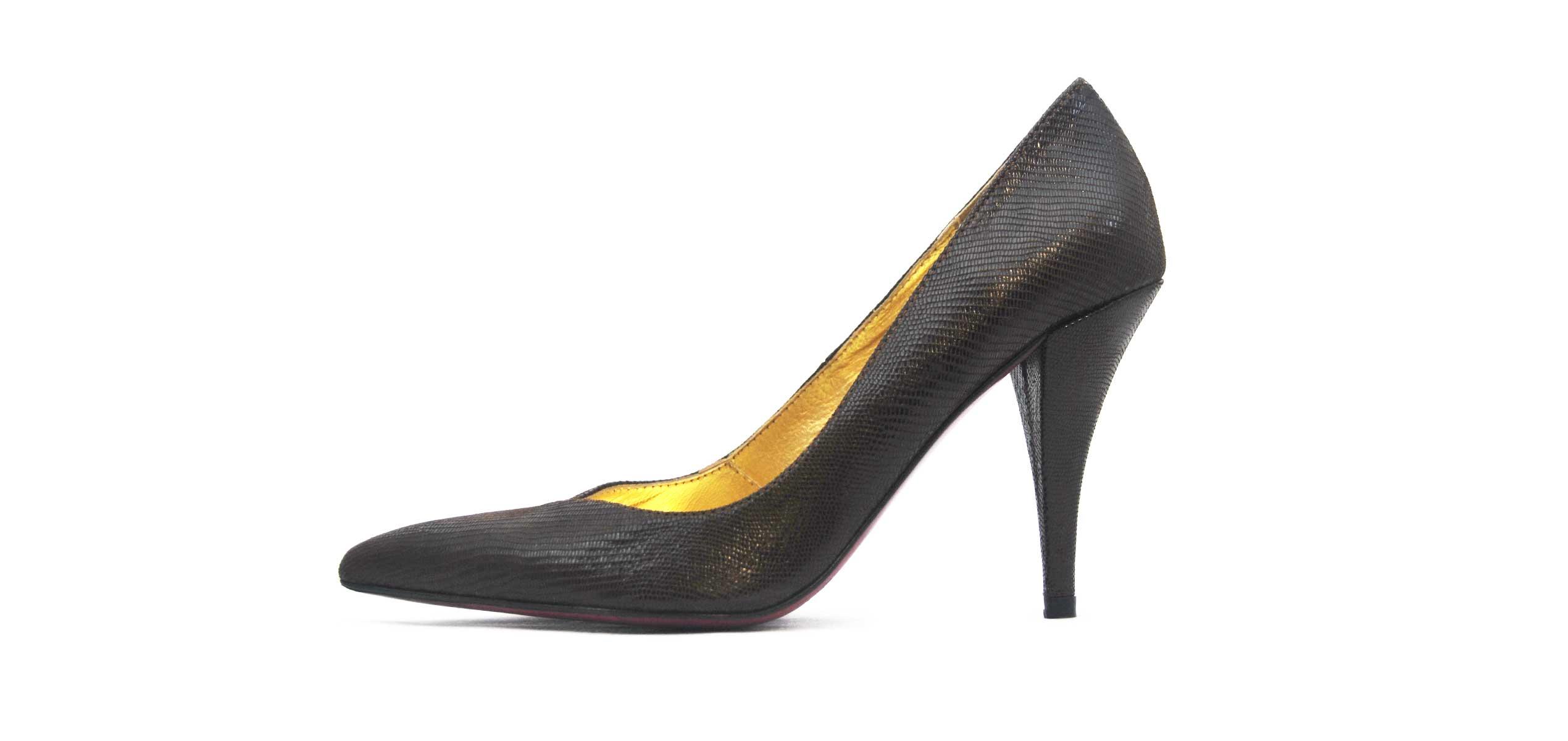 Foto 1 de Zapato Tacon Negro Mamba
