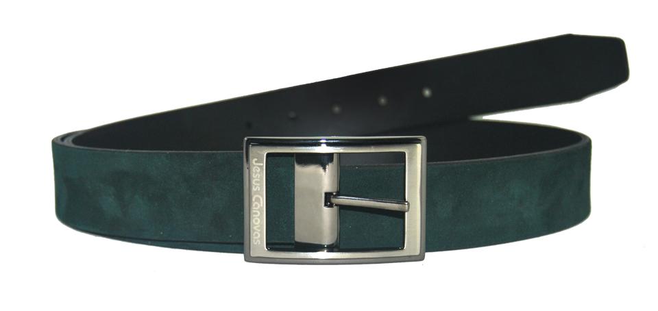 Foto 1 de Cinturón Reversible Ante Green Ingles