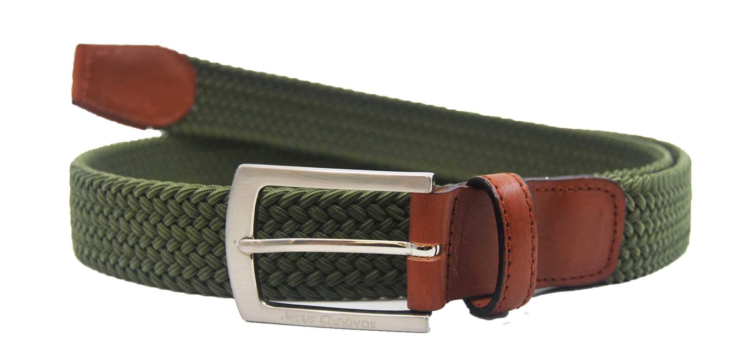 Foto 1 de Cinturon Trenzado Elastico Verde Oliva