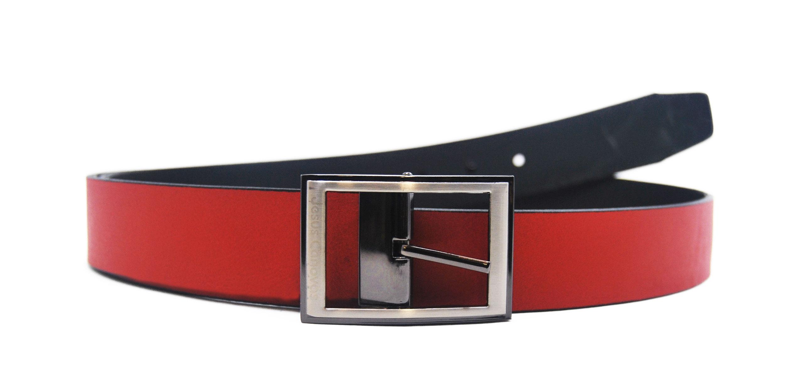 Foto 1 de Cinturón Reversible Rojo