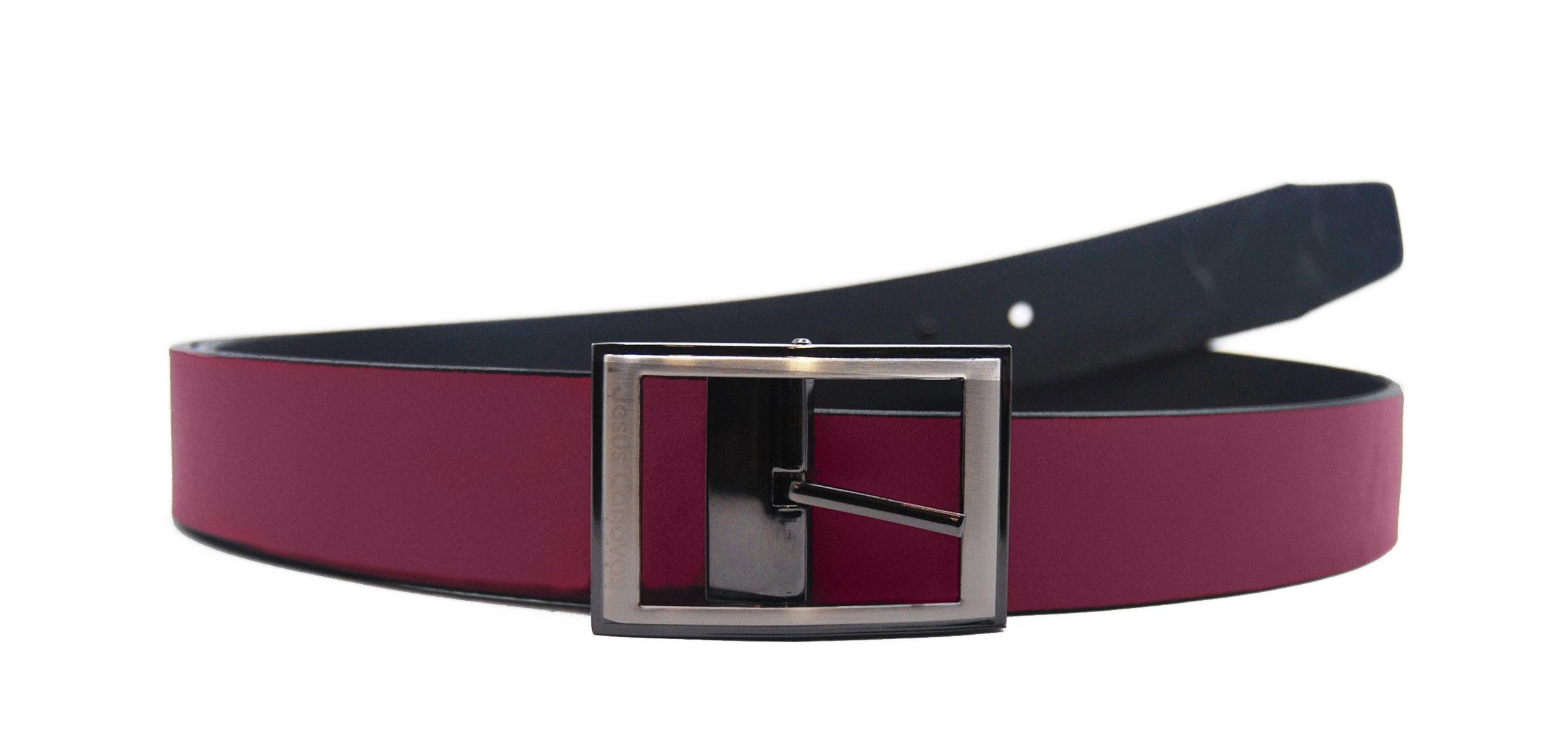 Foto 1 de Cinturón Reversible Burdeos